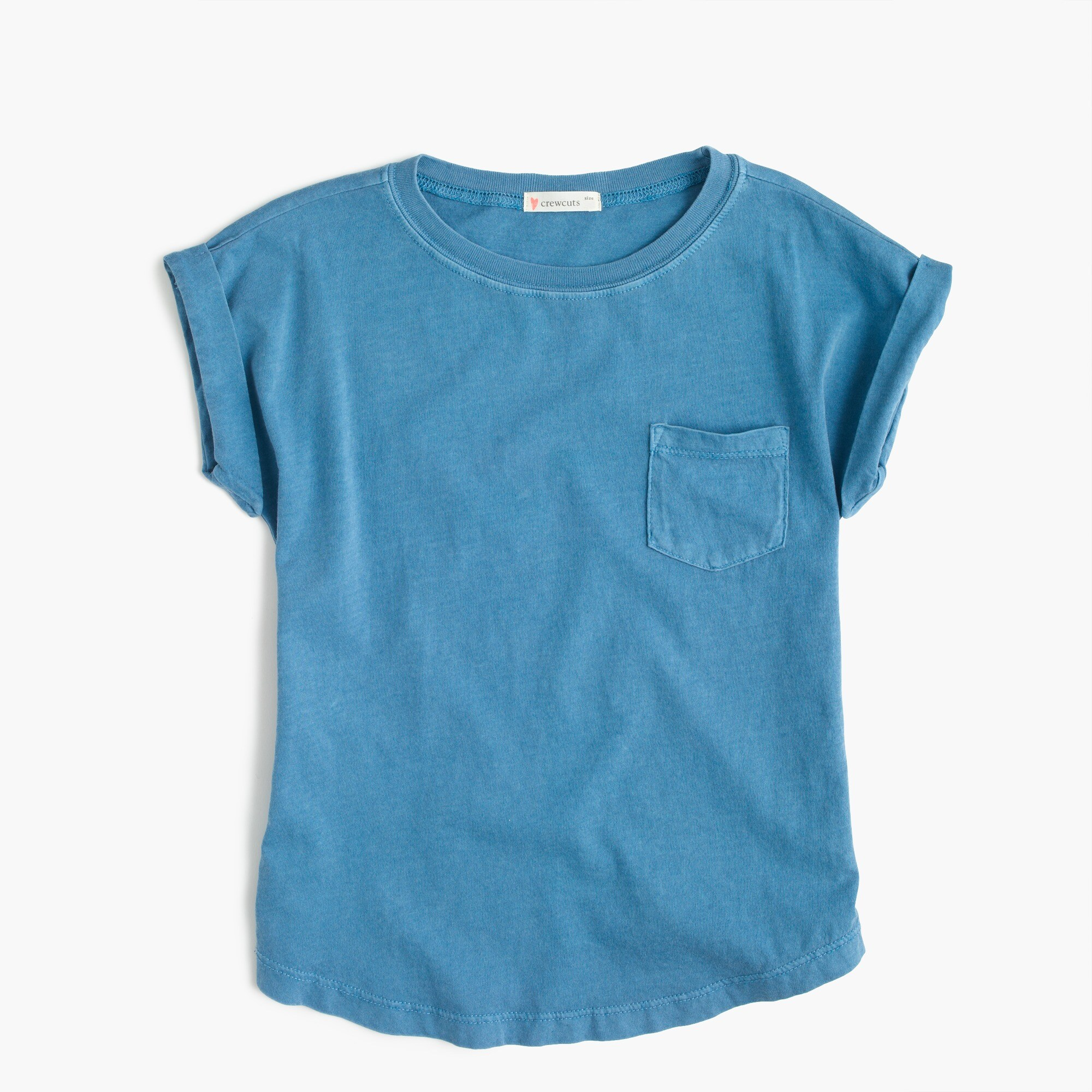 girls' garment-dyed t-shirt : girls' tees & tanks