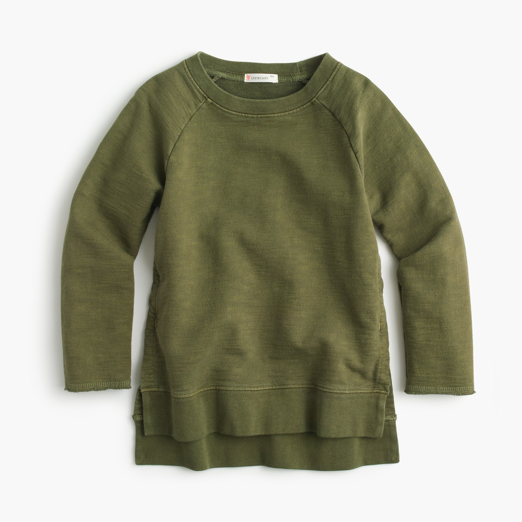 girls' garment-dyed sweatshirt : girls' tees & tanks