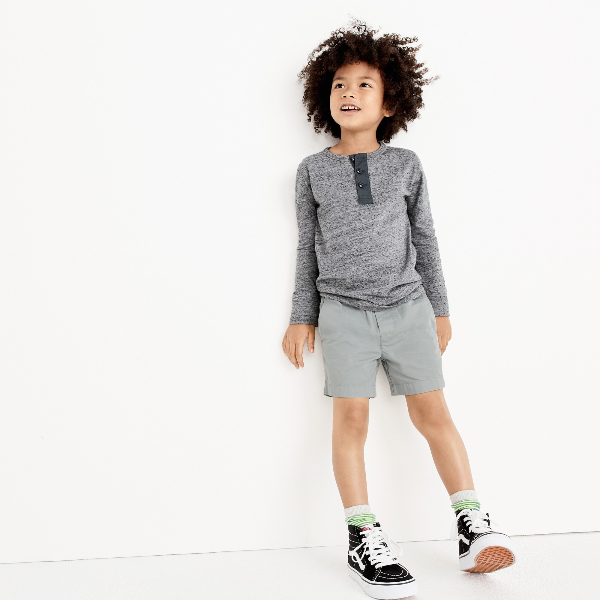 Image 1 for Boys' dock short in garment-dyed chino