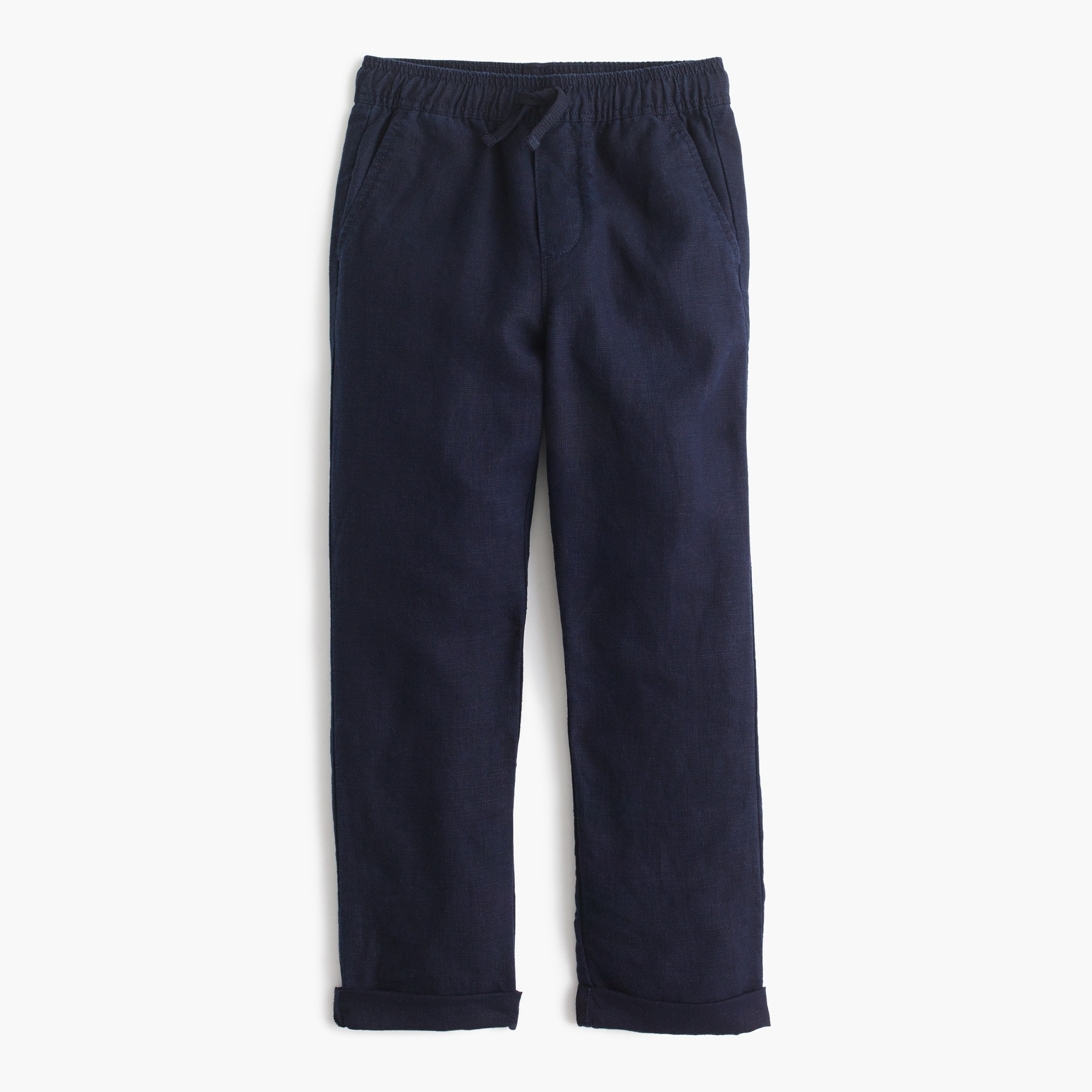 boys' pull-on pant in linen : boy linen