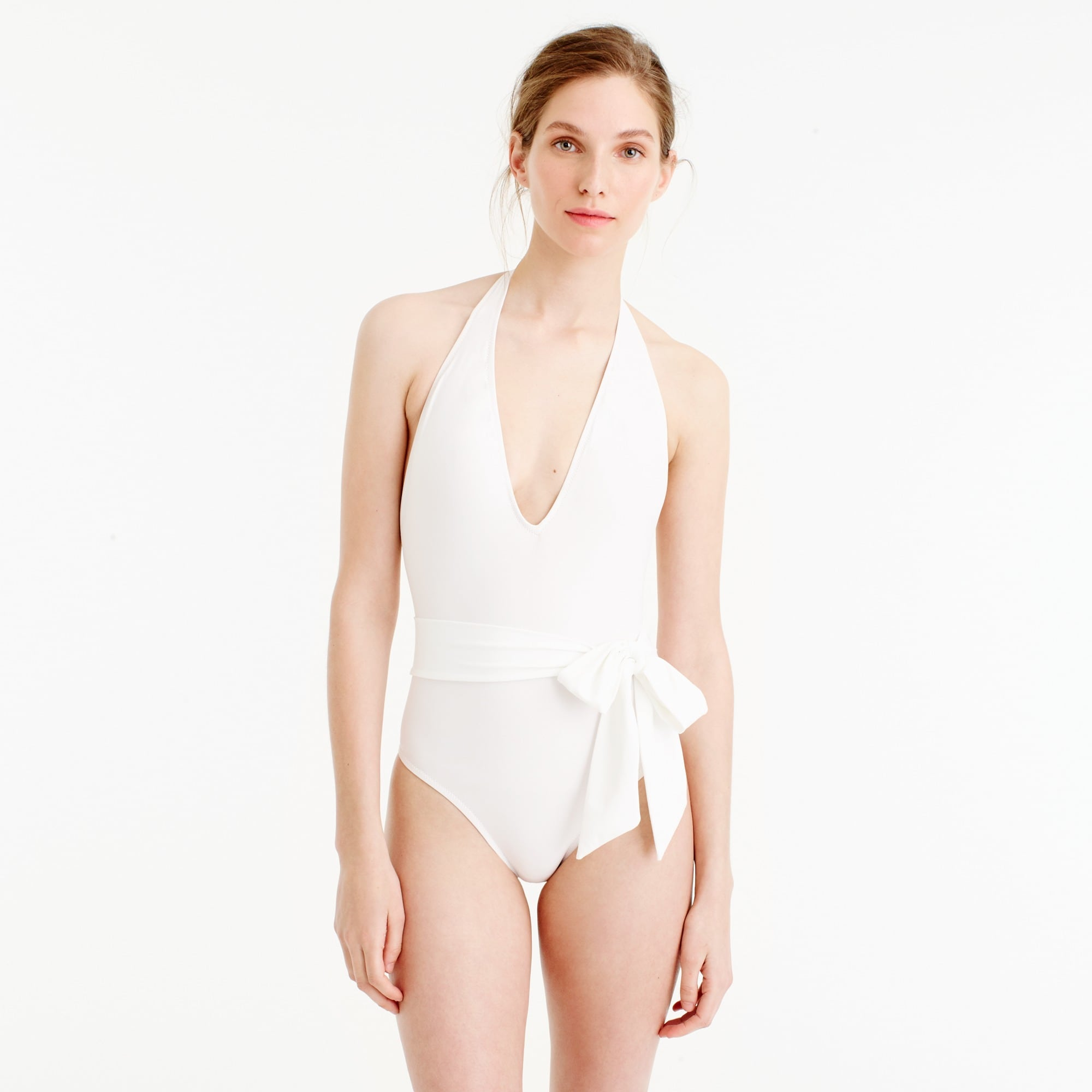deep-v wrap one-piece swimsuit : women's swim