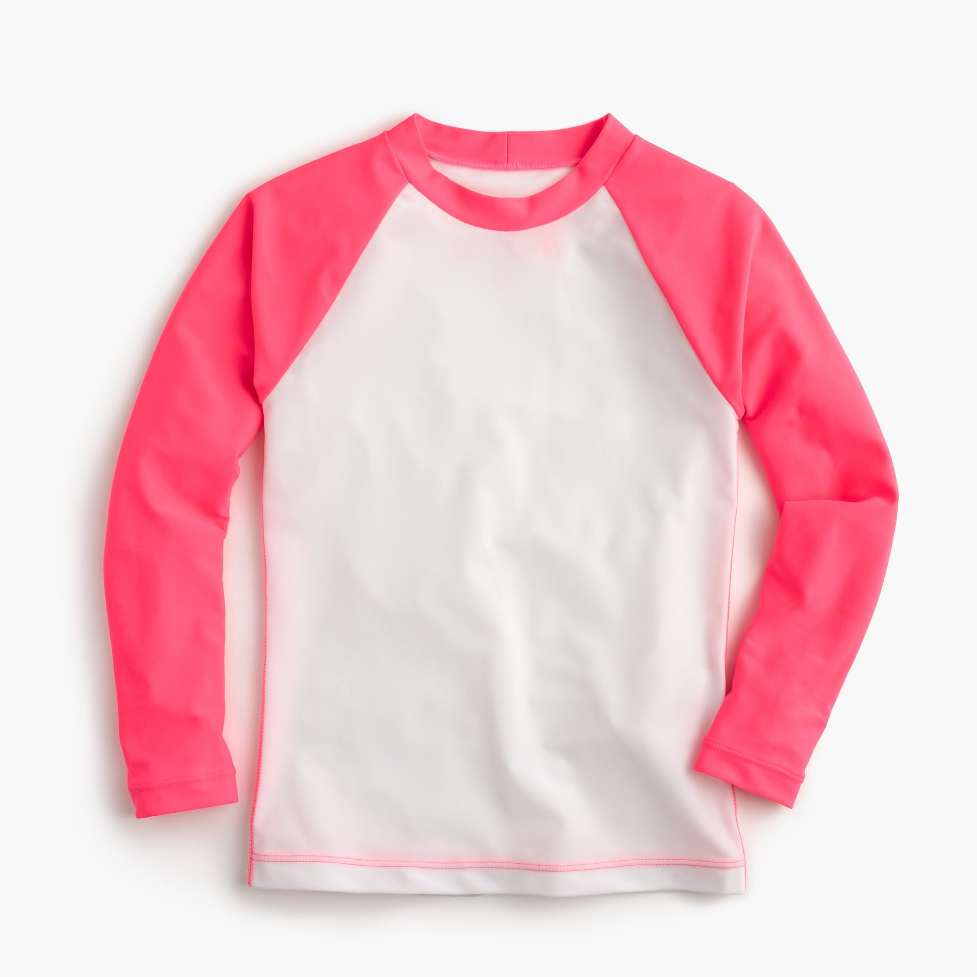 Girls' colorblock raglan-sleeve rash guard girl swim & rash guards c