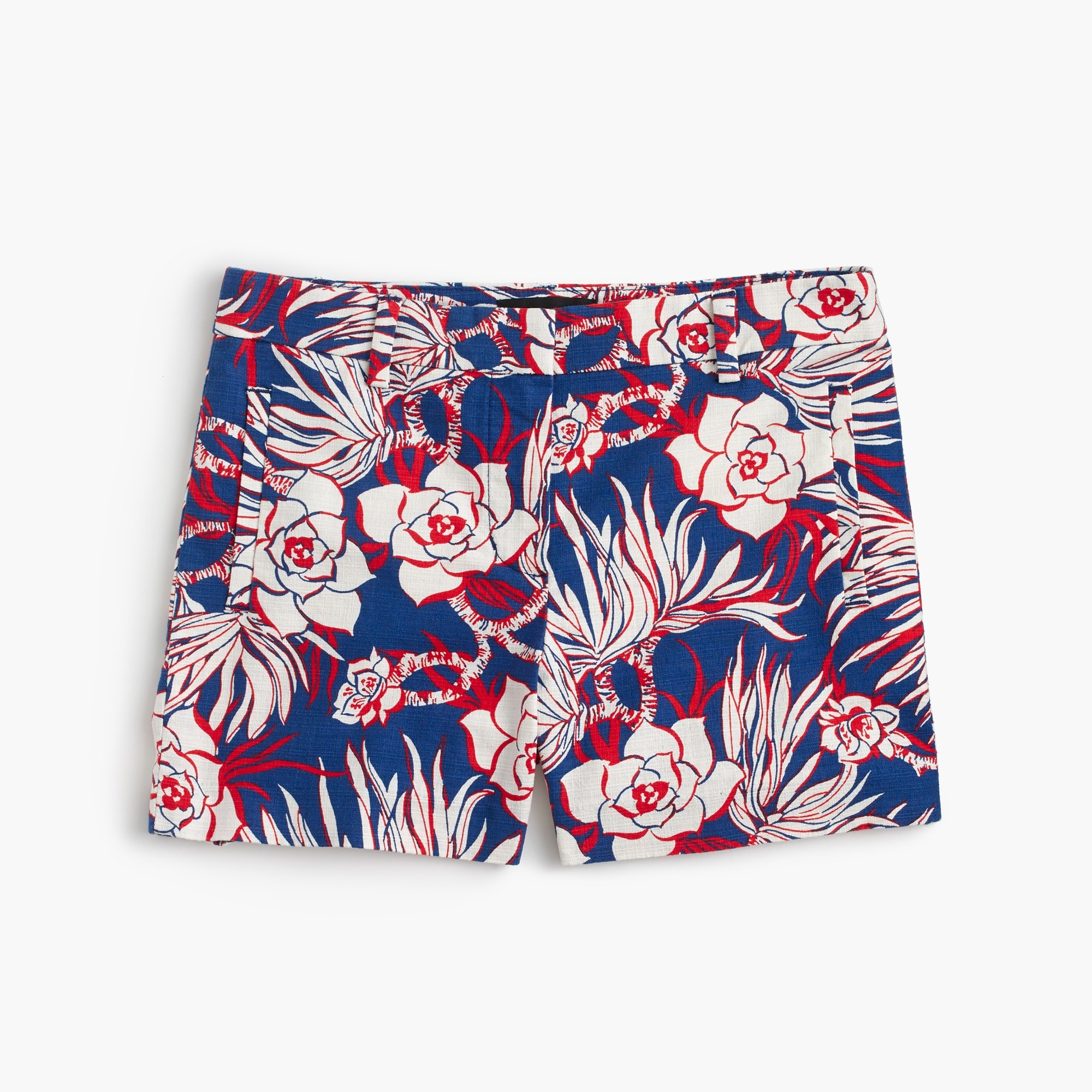 cotton short in retro floral :