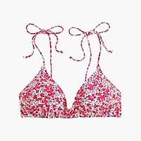 Shoulder-tie French bikini top in Liberty Art Fabrics Wiltshire print