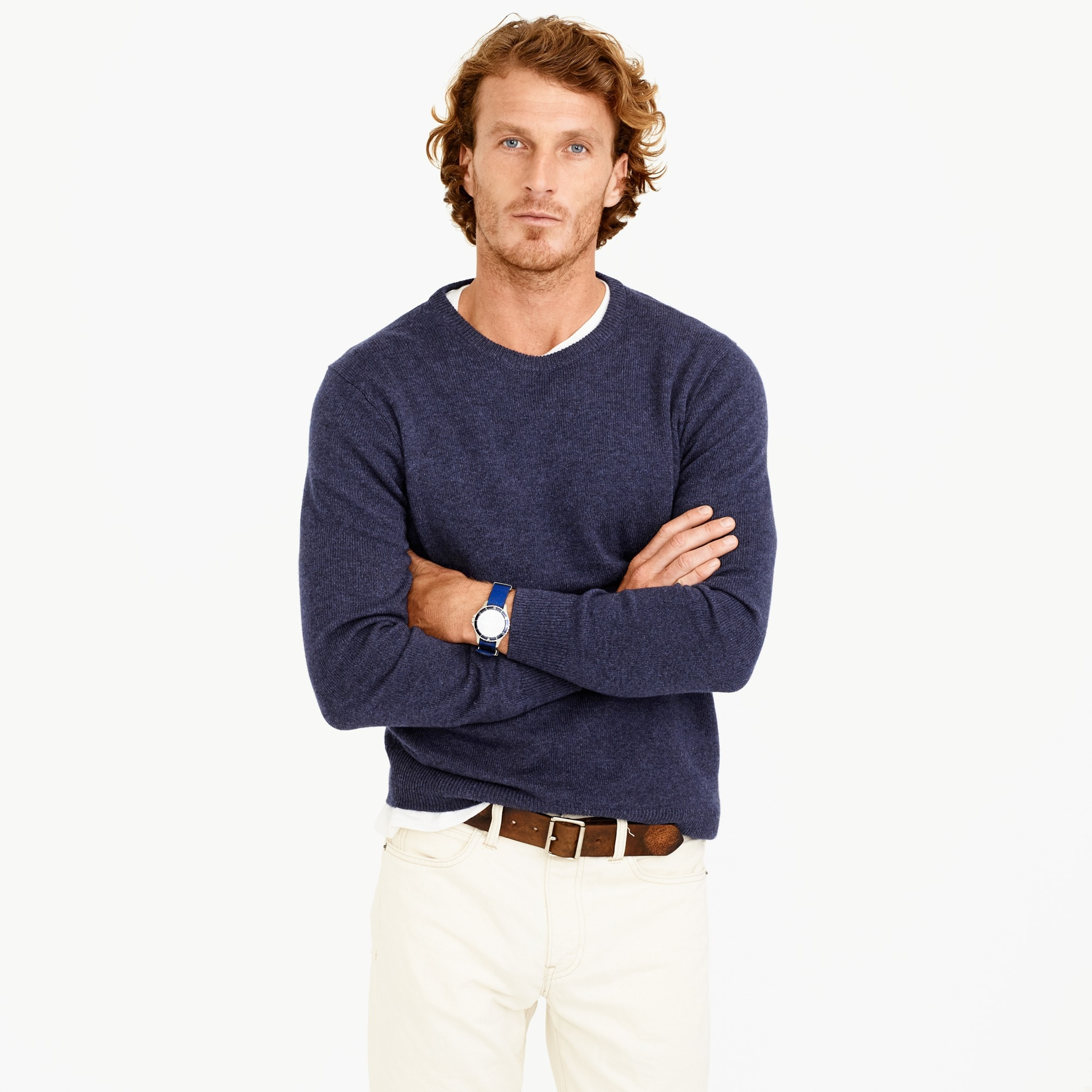 mens Italian cashmere crewneck sweater