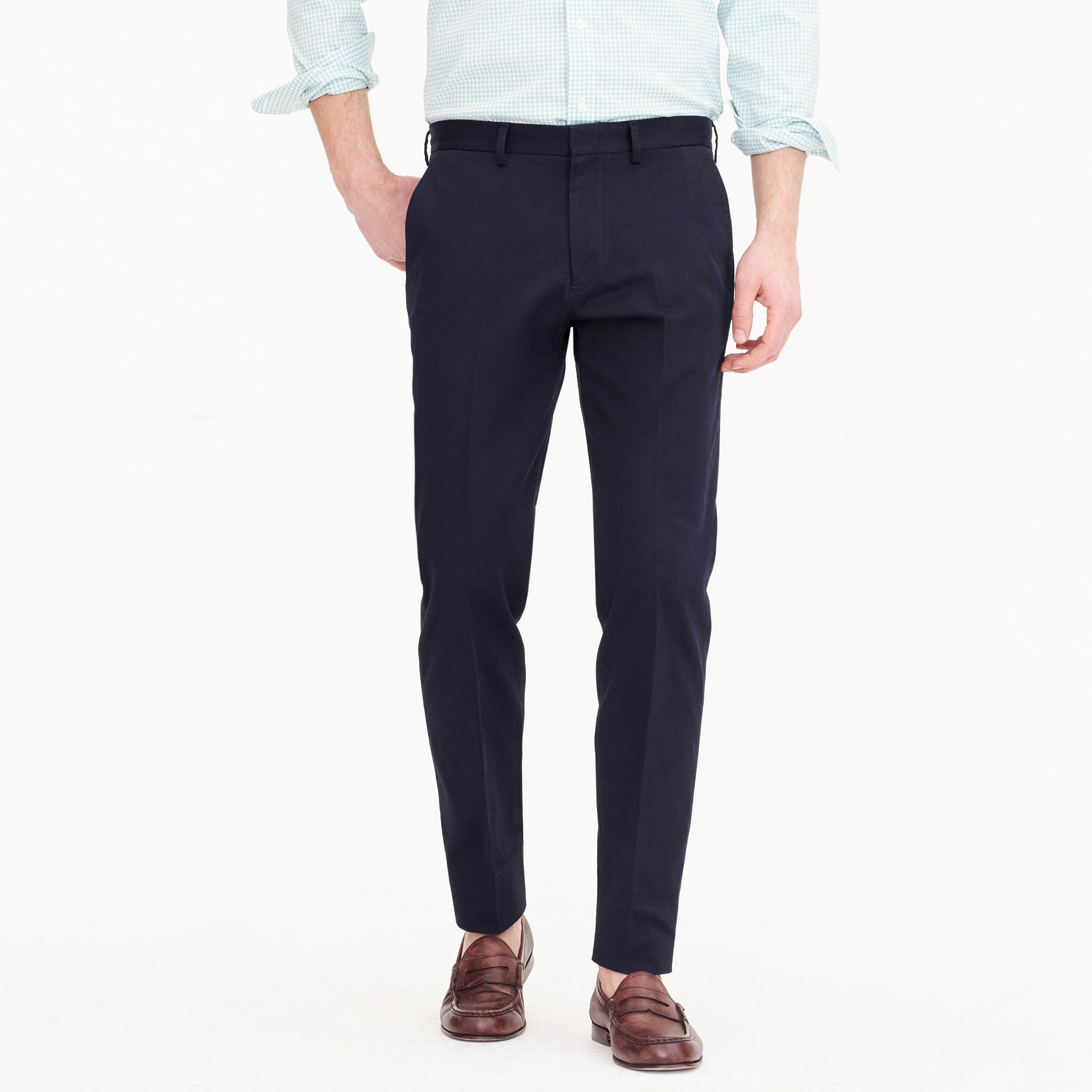 Ludlow Slim-fit pant in stretch chino men pants c