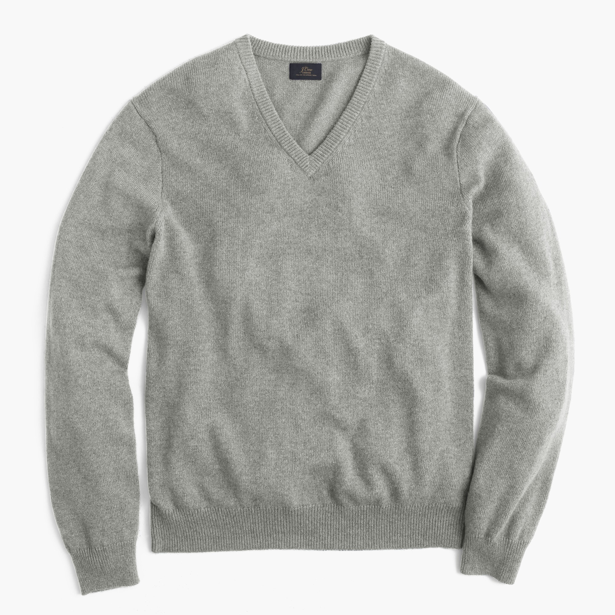 Tall Italian cashmere V-neck sweater