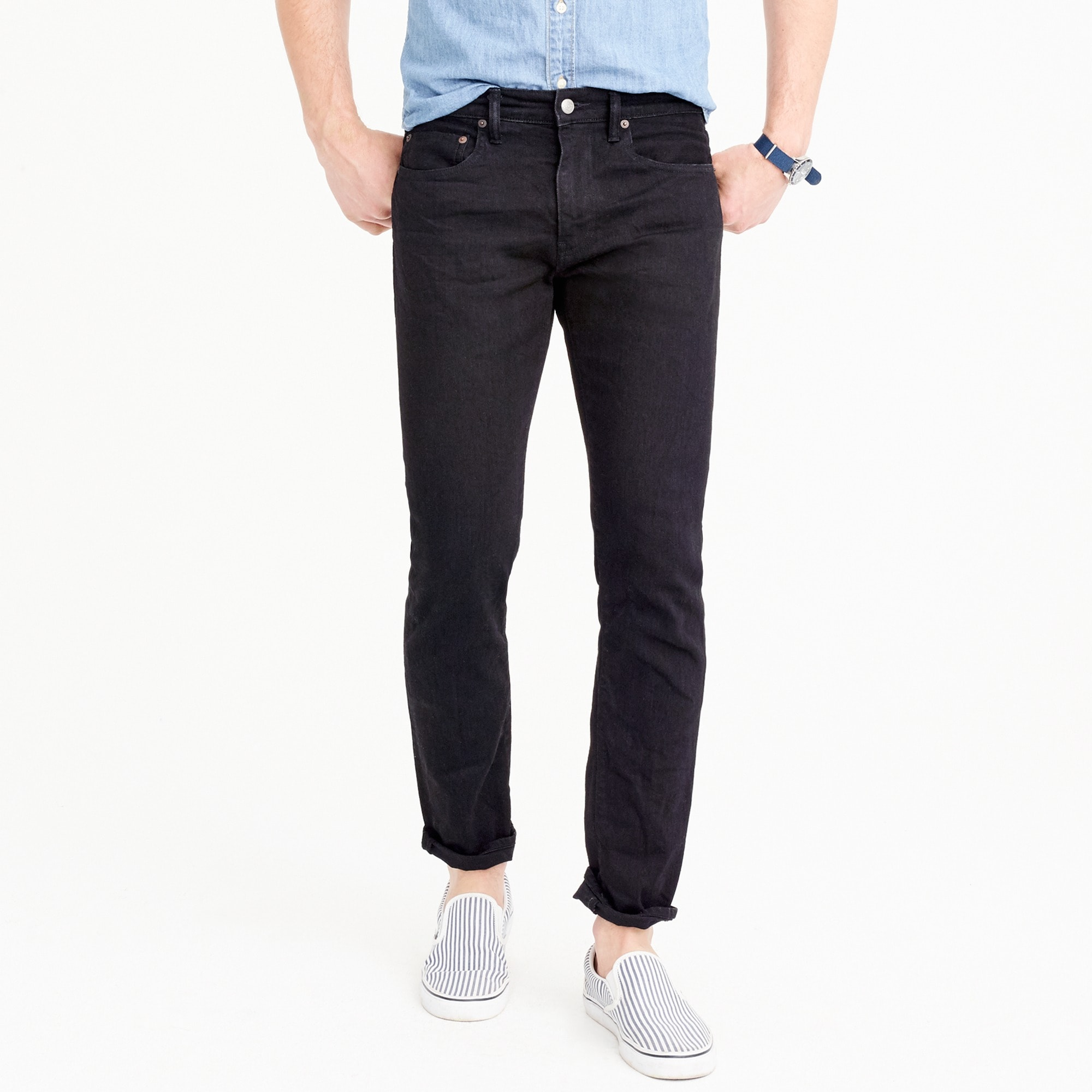 484 Slim-fit jean in black stretch denim men denim c