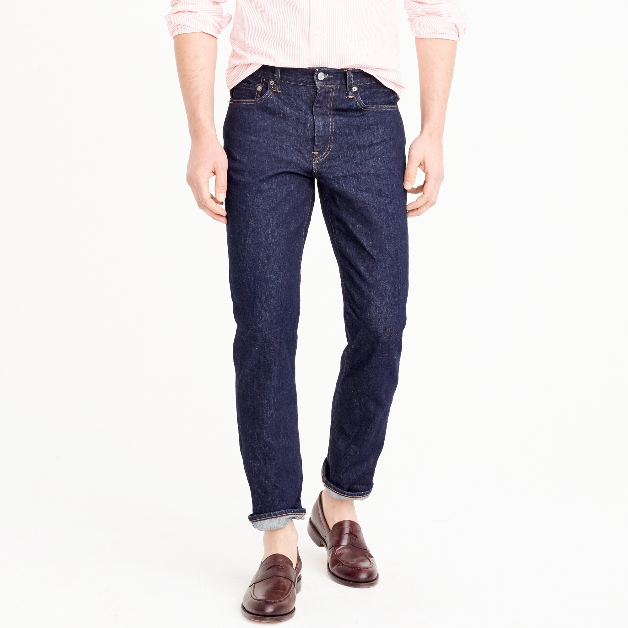 770 Straight-fit stretch jean in indigo men pants c