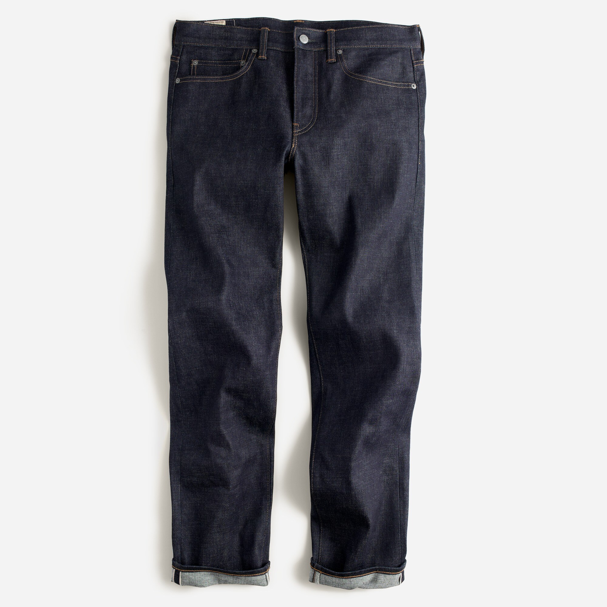 men's 770 straight-fit stretch jean in indigo raw selvedge - men's denim