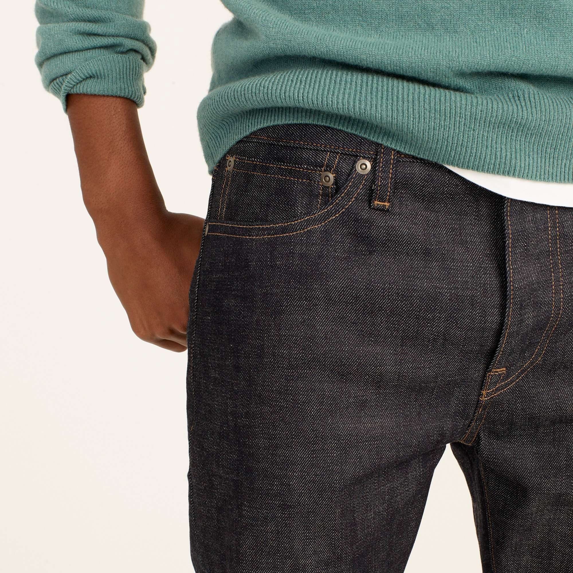 Image 4 for 770 Straight-fit stretch jean in indigo raw selvedge