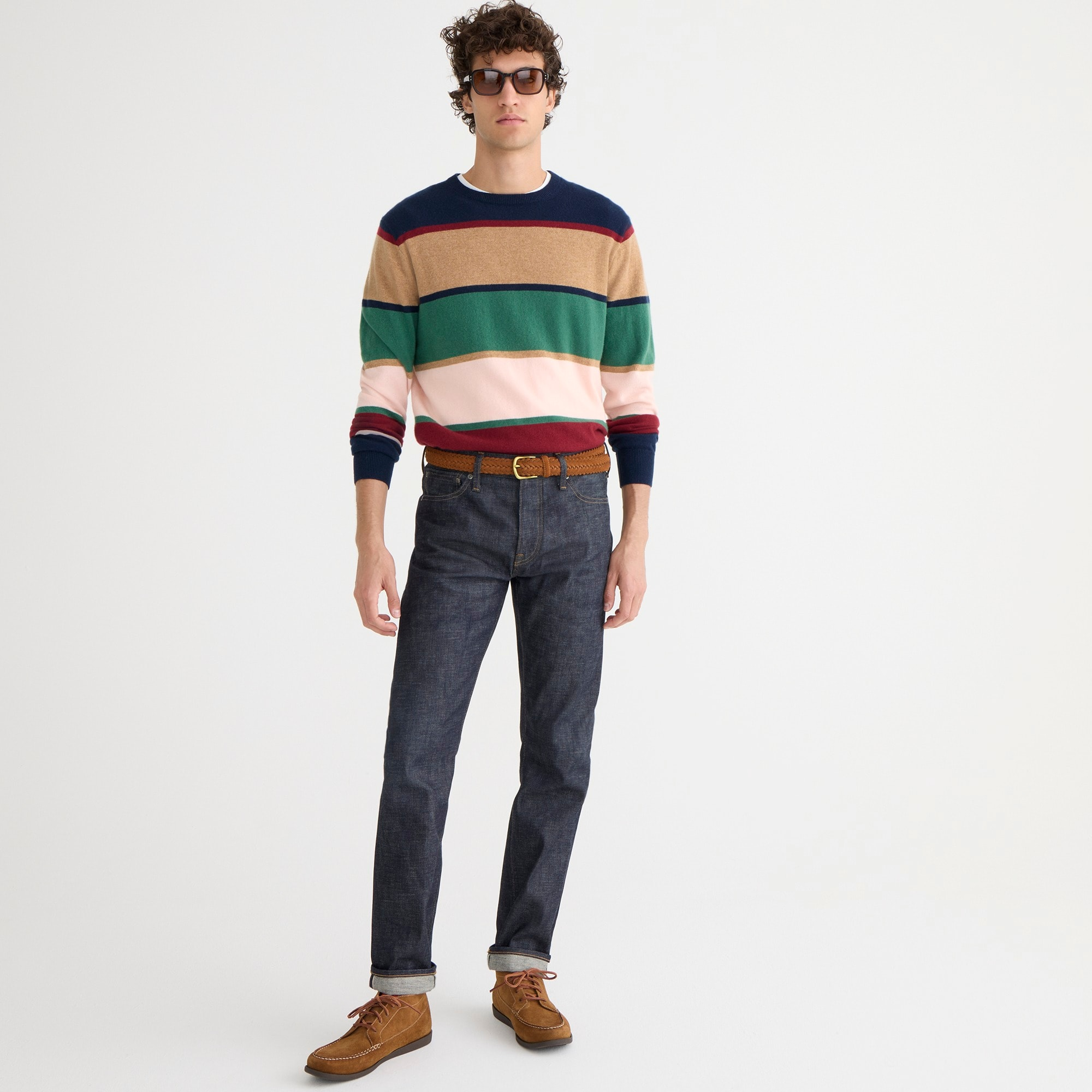 770 Straight-fit stretch jean in indigo raw selvedge men denim c