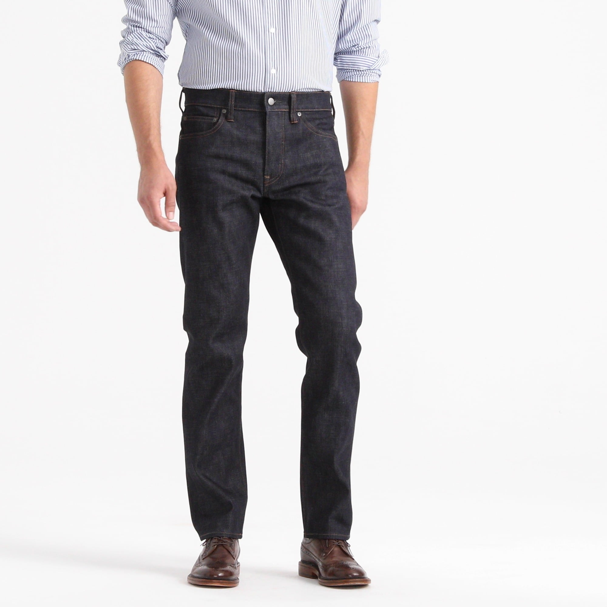 770 Straight-fit stretch jean in indigo raw selvedge