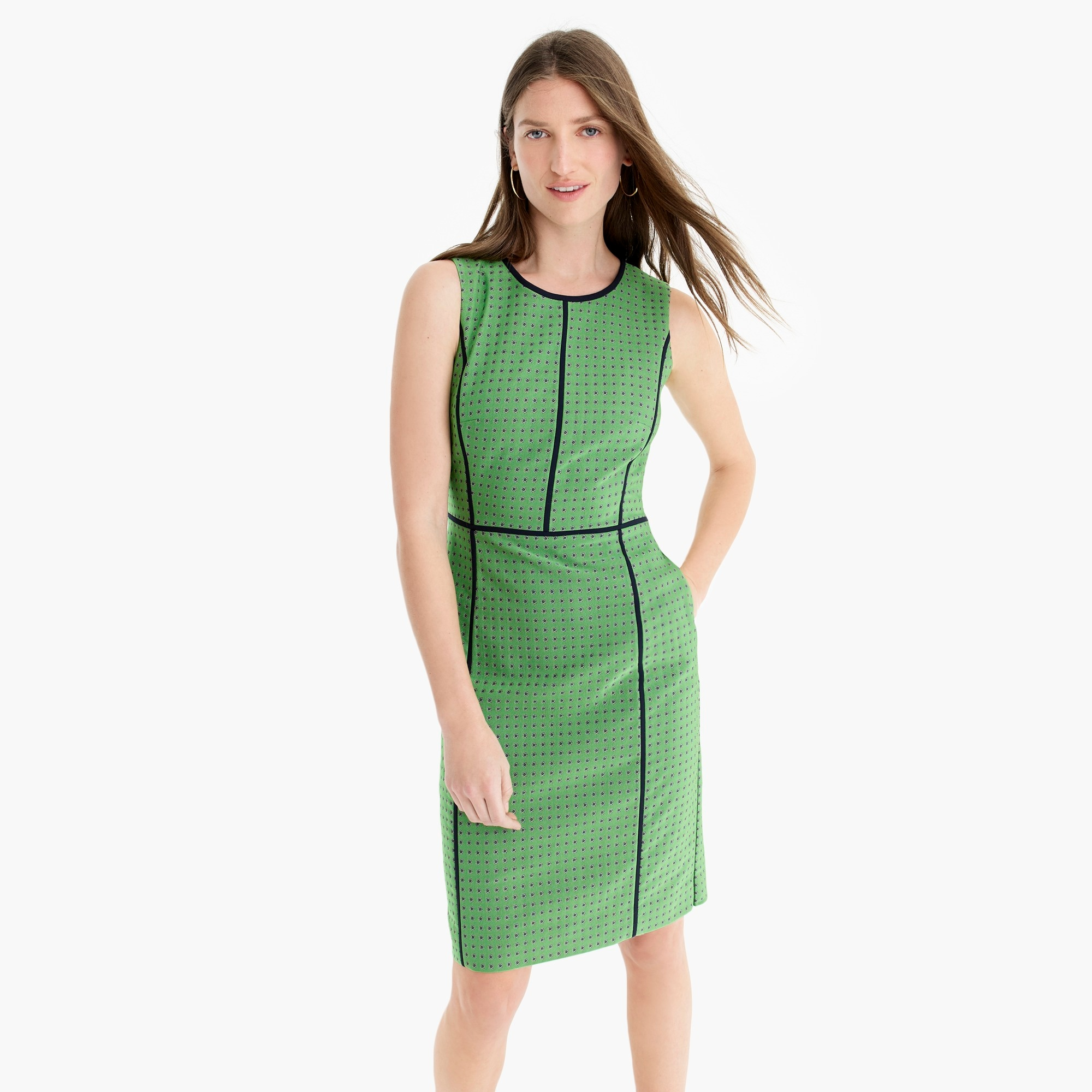 Petite paneled sheath dress
