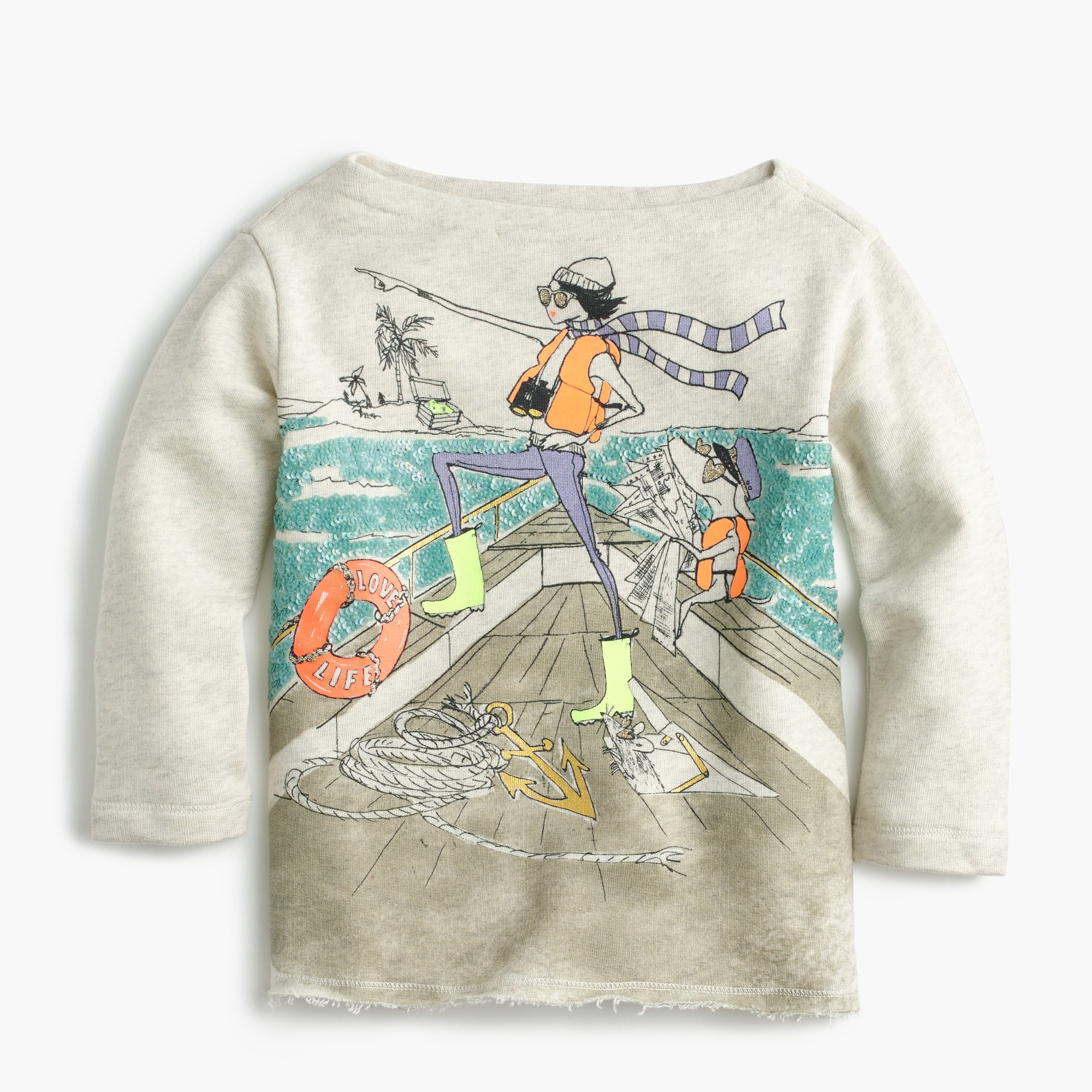 Image 1 for Girls' Olive and Izzy sailing T-shirt