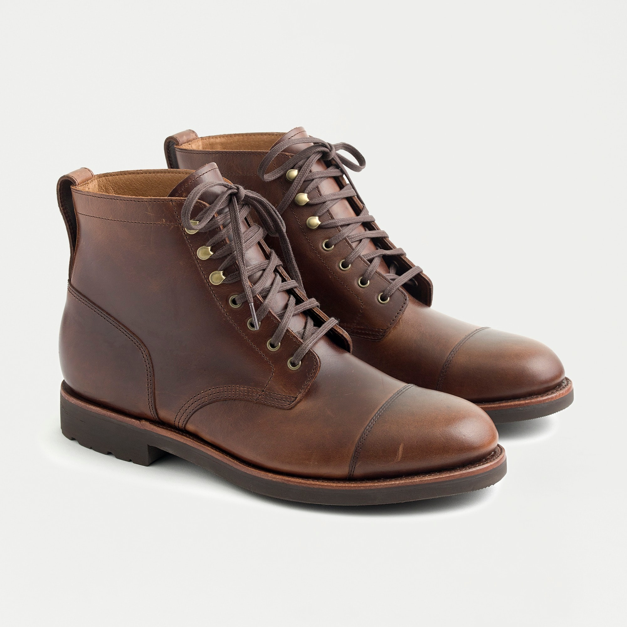 mens Kenton leather cap-toe boots