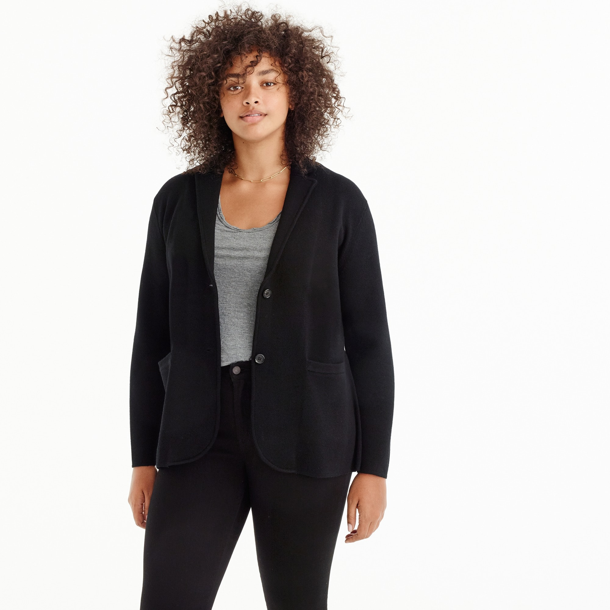 women's merino wool sweater-blazer - women's sweaters