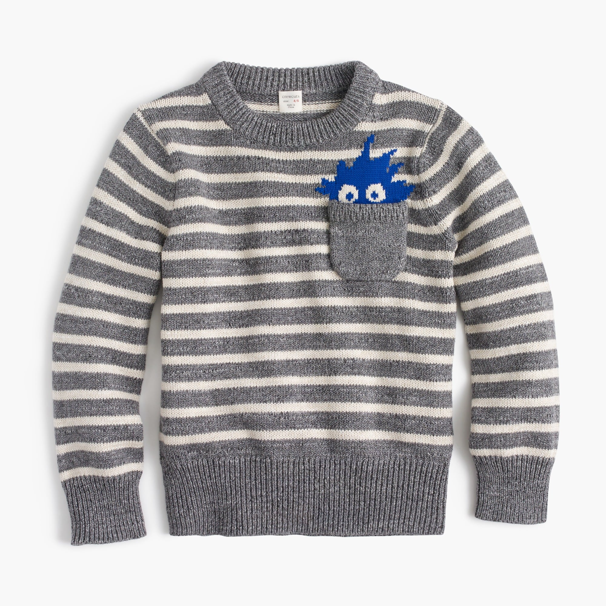 Boys' Max the Monster cotton crewneck sweater