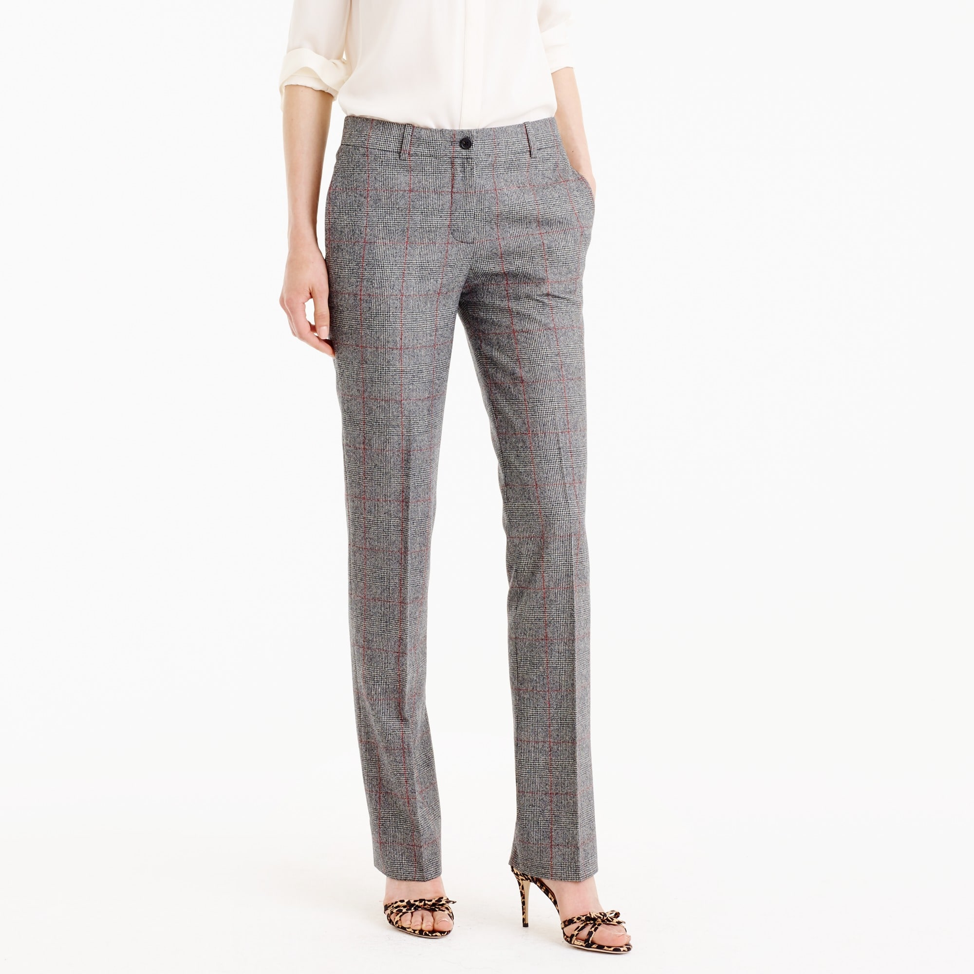collection regent pant in english glen plaid wool : women's blazers