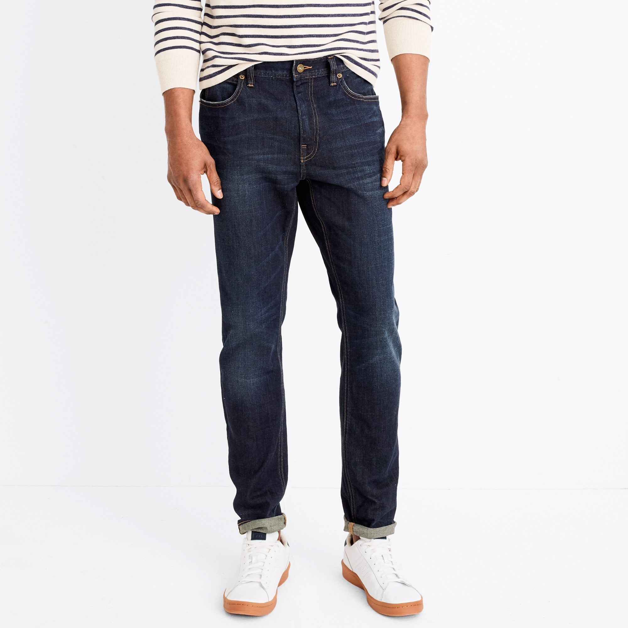 mens J.Crew Mercantile Straight-fit flex jean in Walker wash