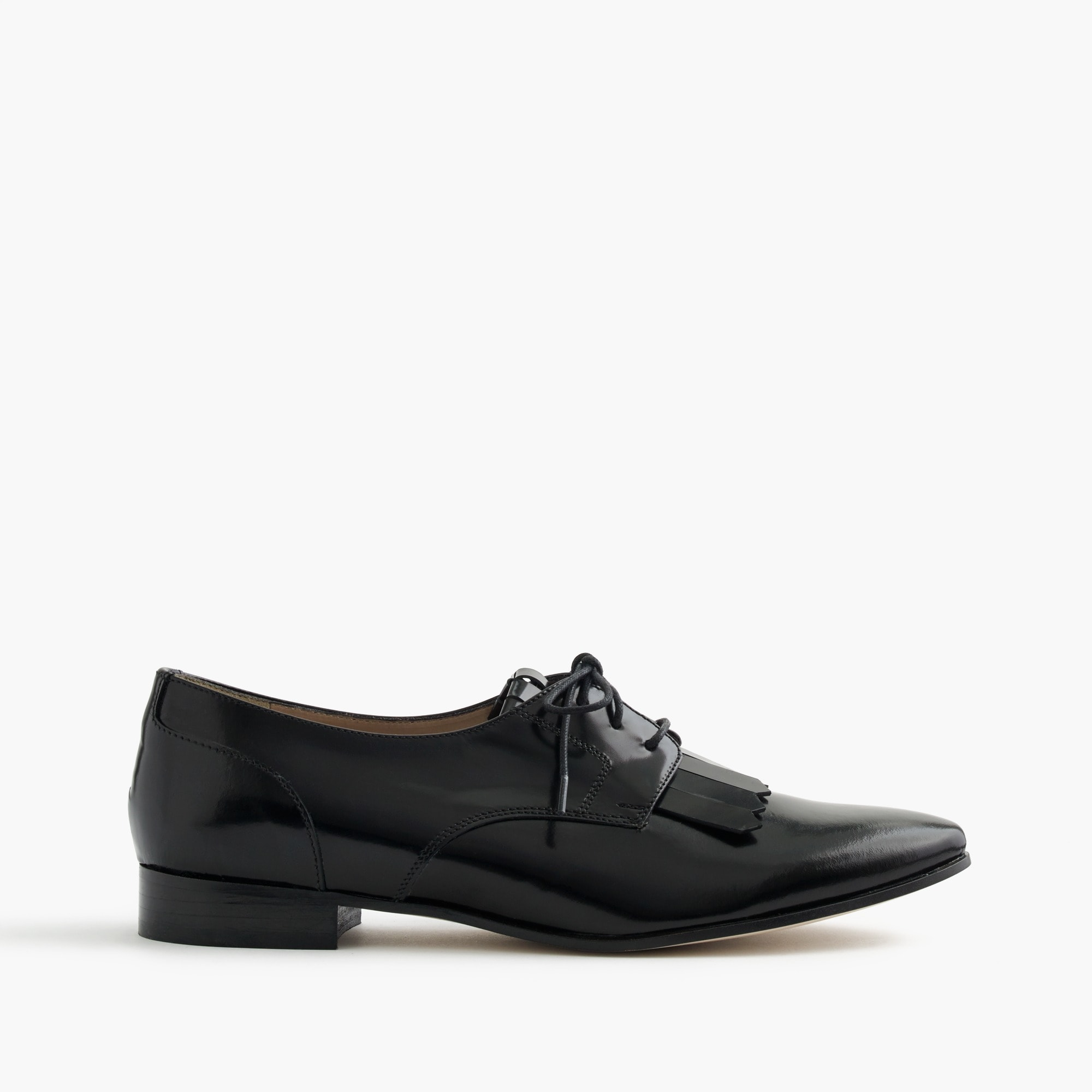 leather oxfords with fringe : women loafers & oxfords