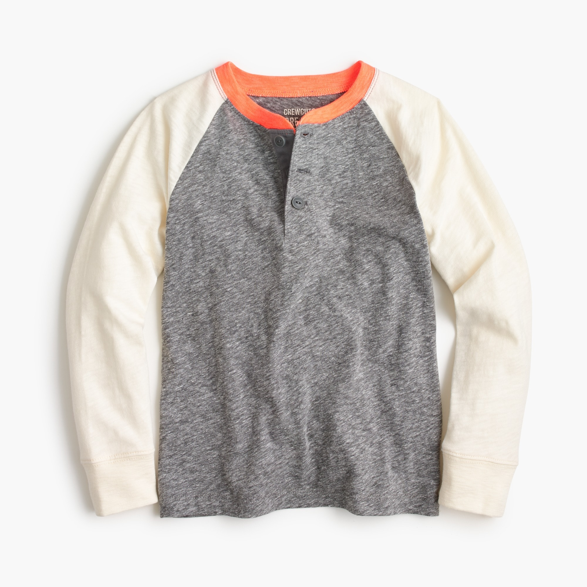 Image 1 for Boys' baseball henley shirt