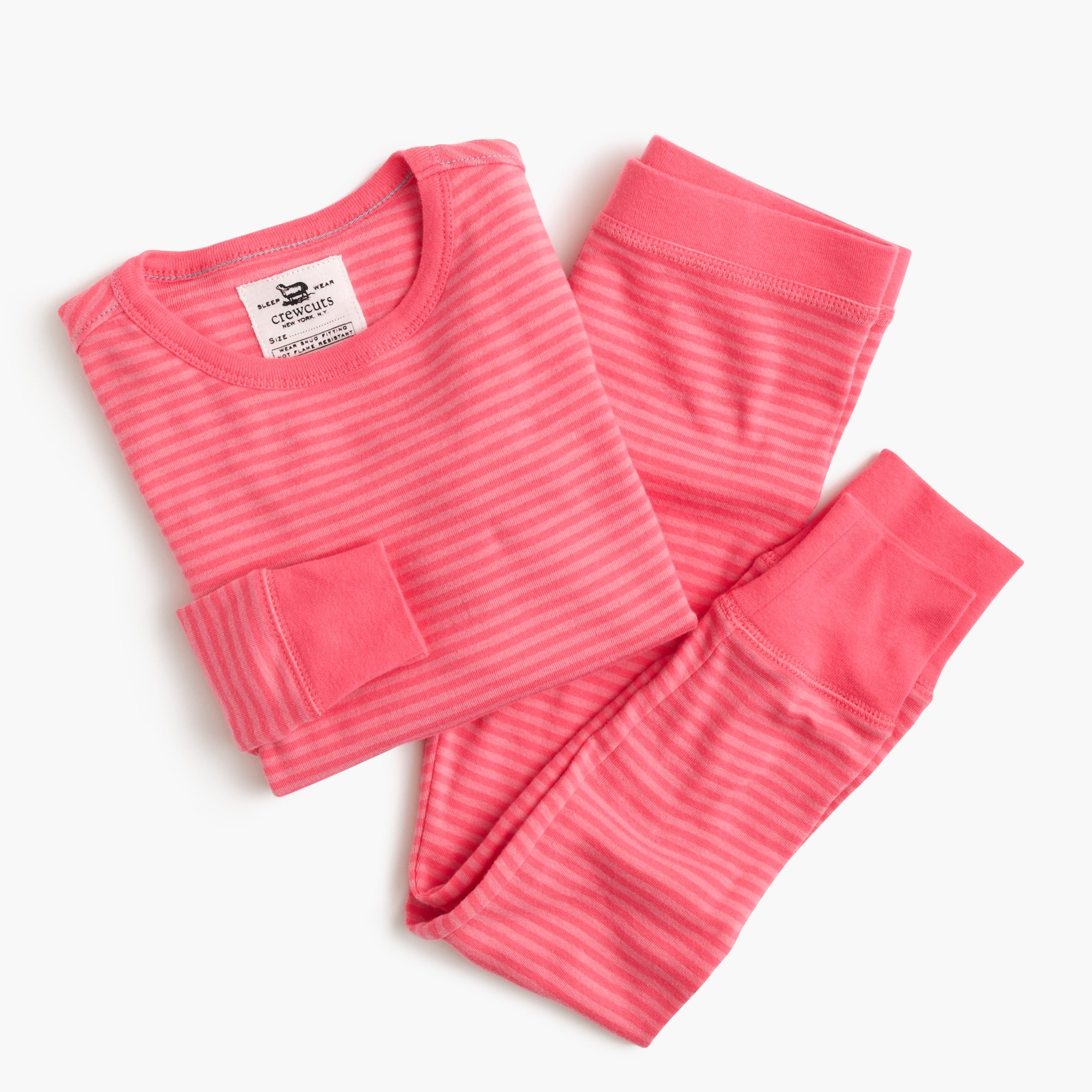 Girls' pajama set in mini stripe