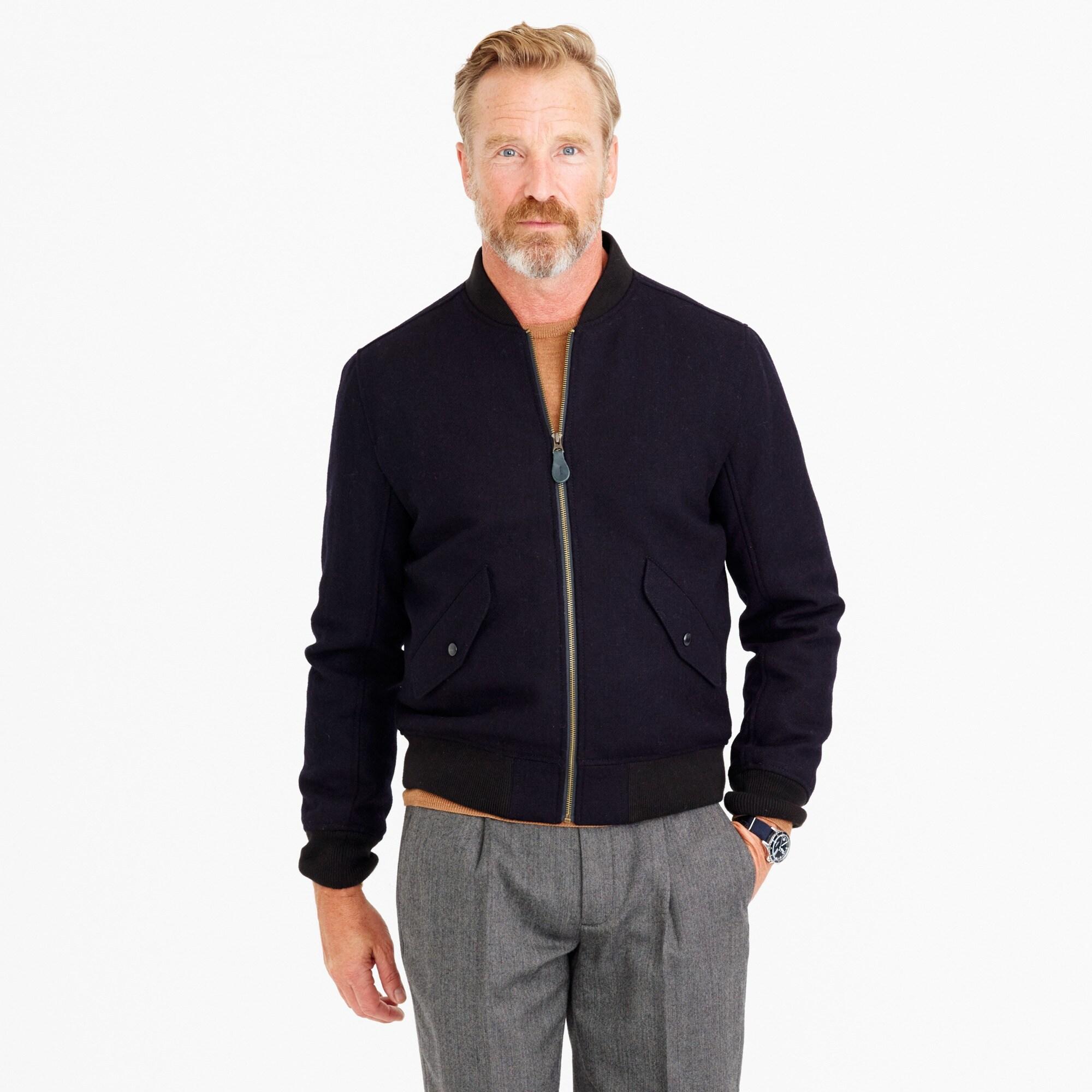 Wallace & Barnes wool MA-1 bomber jacket