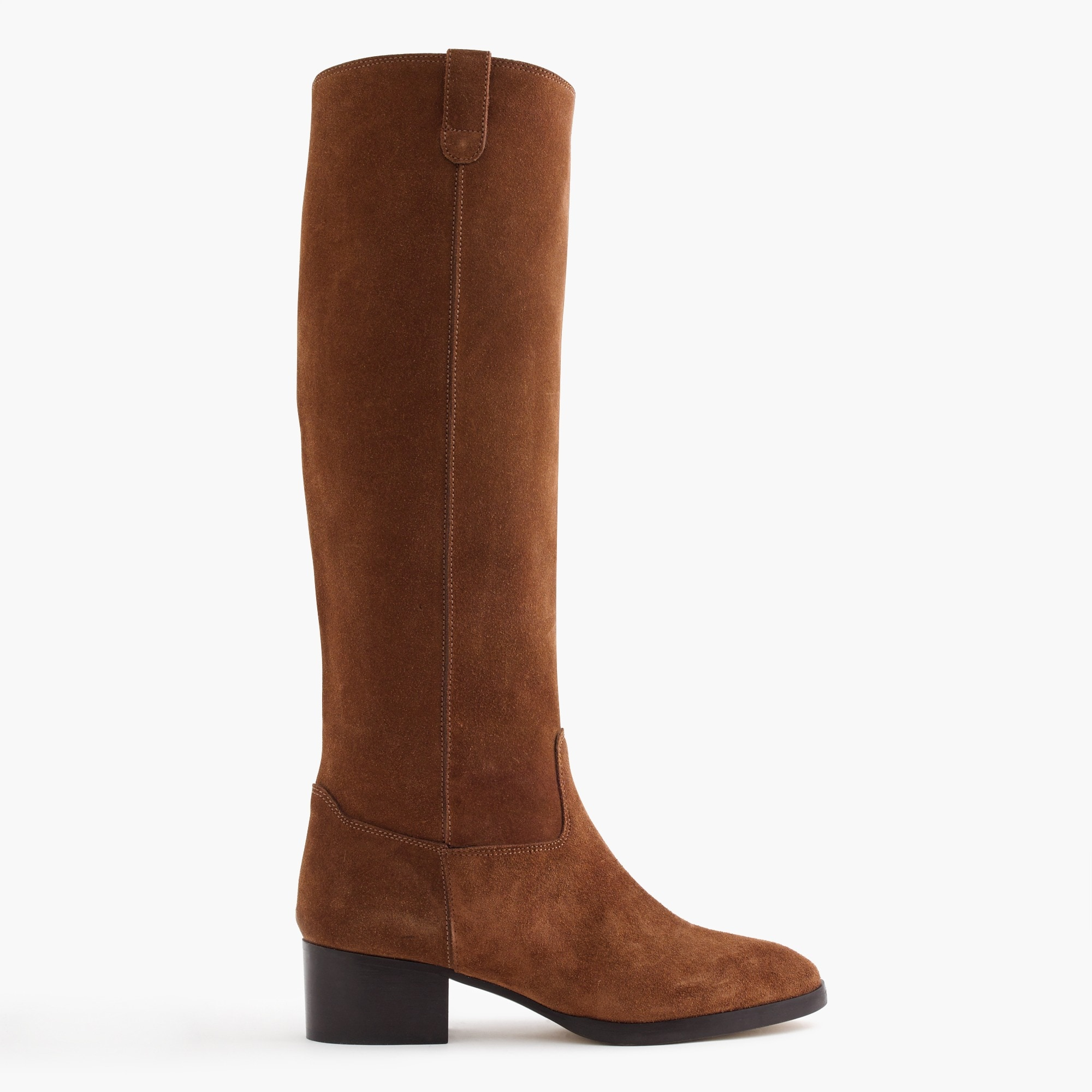 suede knee boots with tabs : women's tall boots