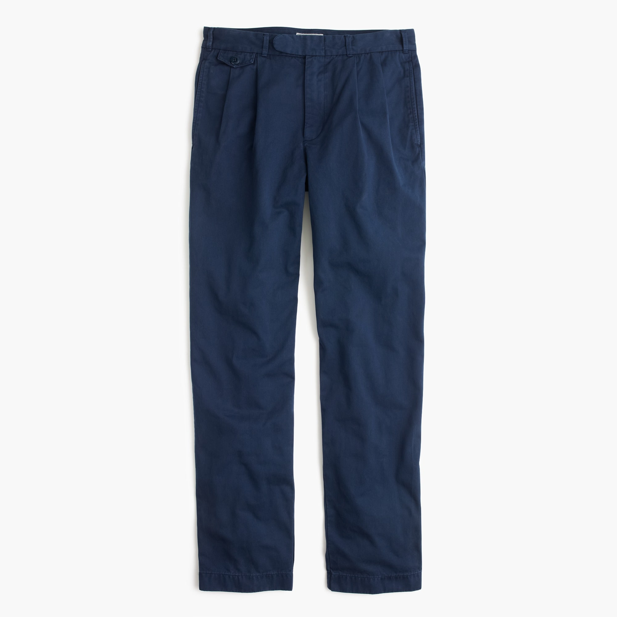 Image 1 for Wallace & Barnes double-pleated relaxed-fit military chino pant