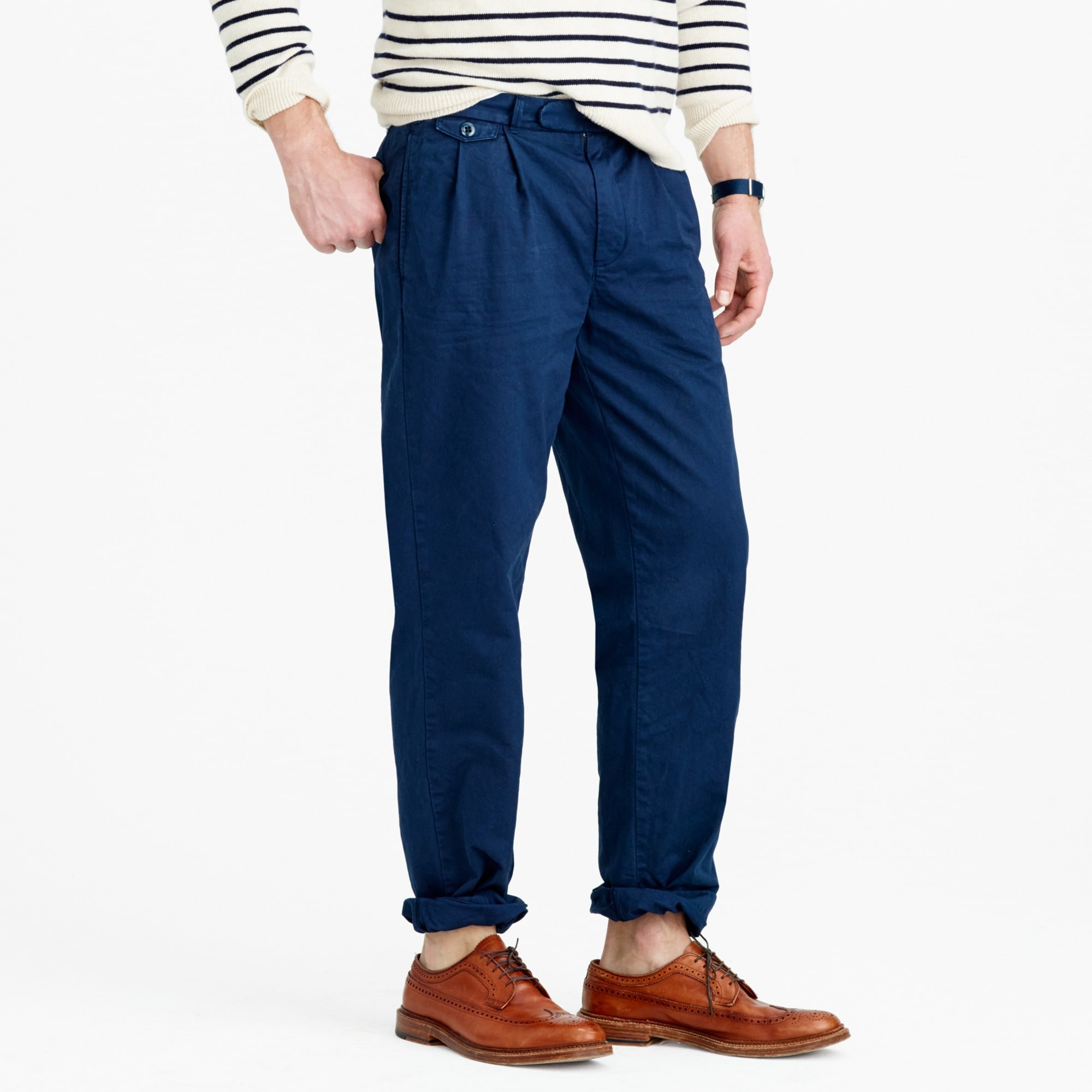 Image 3 for Wallace & Barnes double-pleated relaxed-fit military chino pant