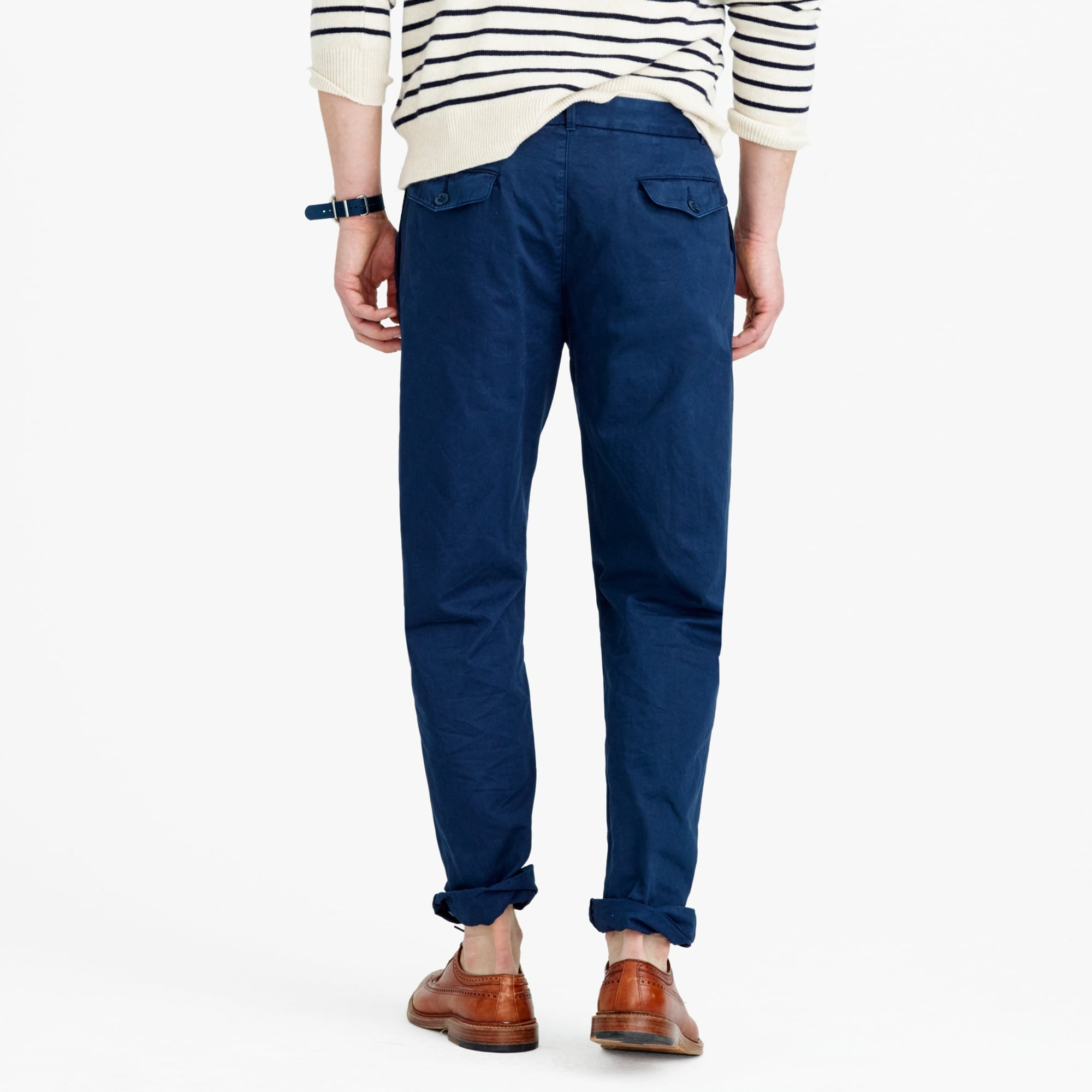 Image 4 for Wallace & Barnes double-pleated relaxed-fit military chino pant