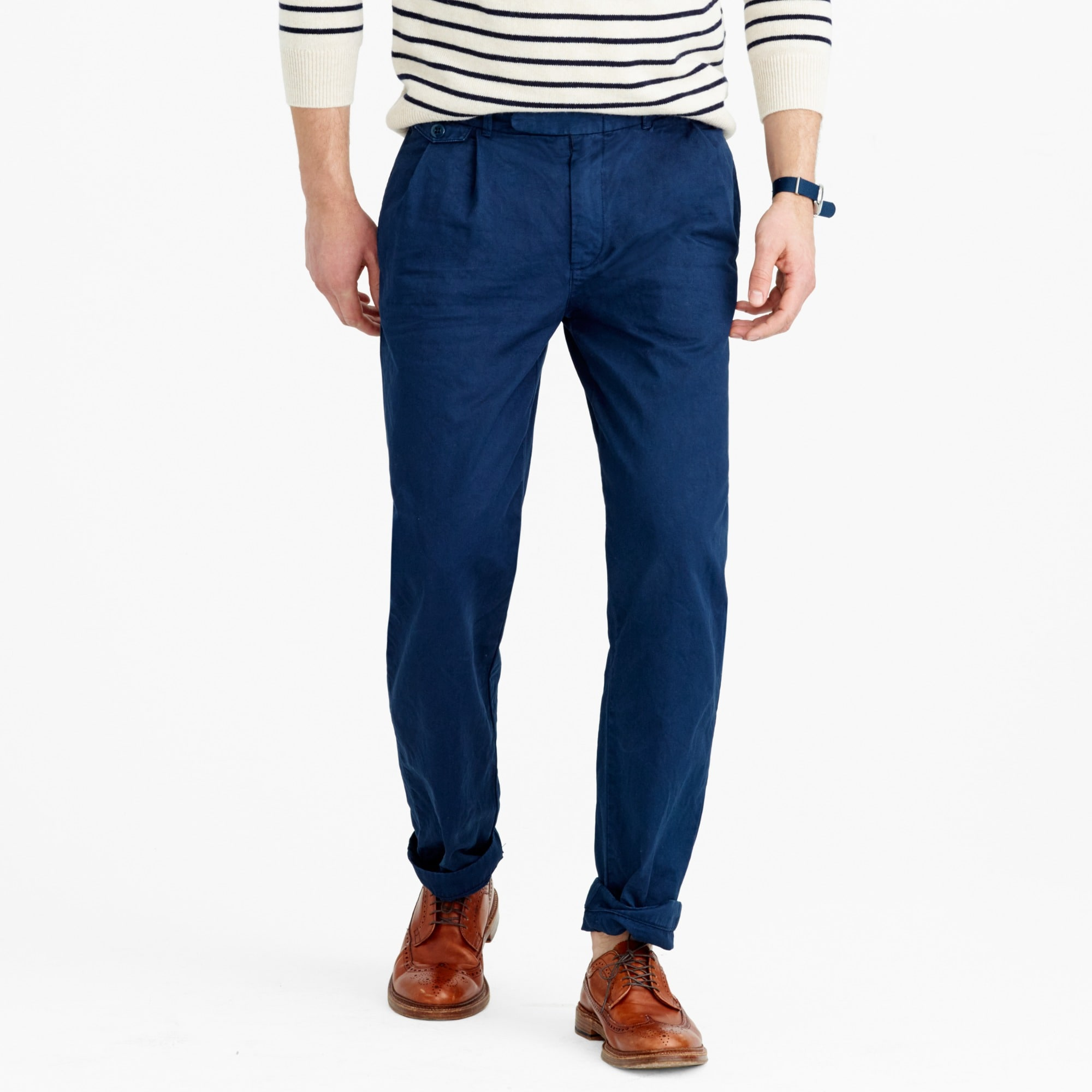 Image 2 for Wallace & Barnes double-pleated relaxed-fit military chino pant