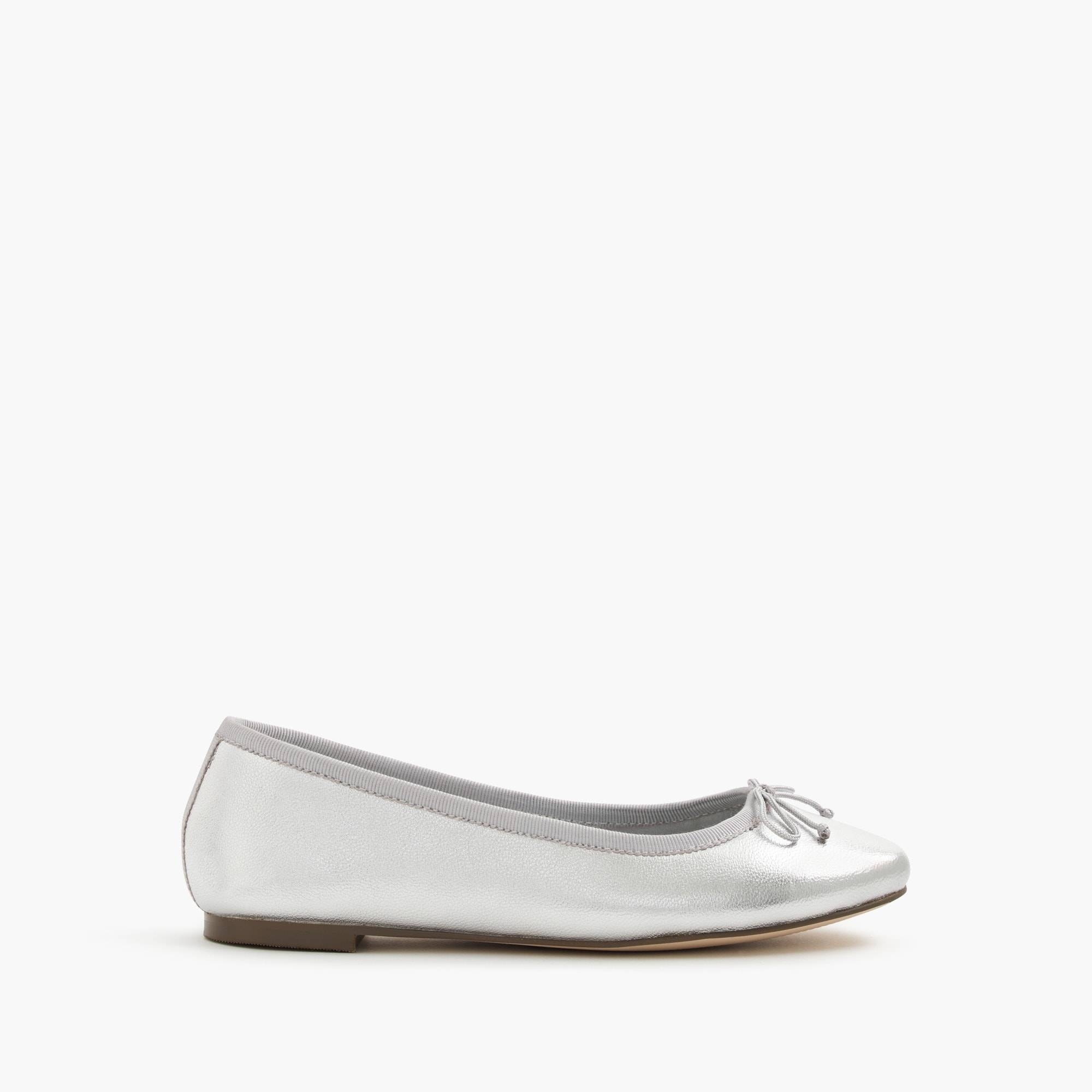 girls' classic metallic leather ballet flats - girls' footwear