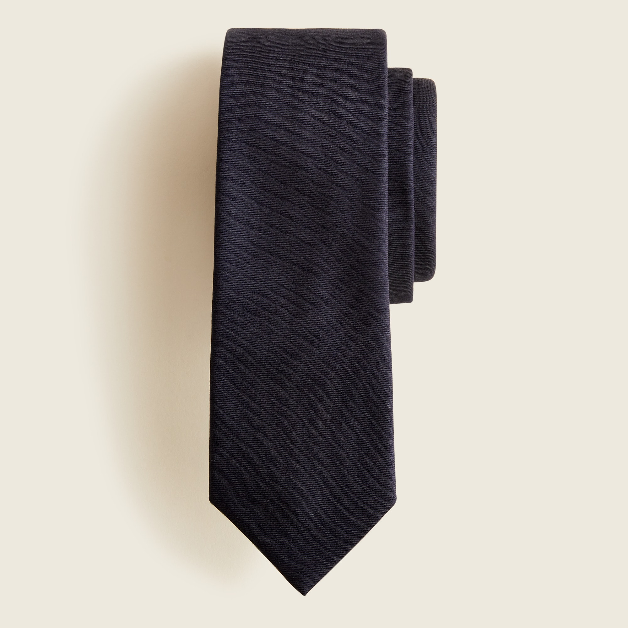 Image 2 for American wool tie in classic navy