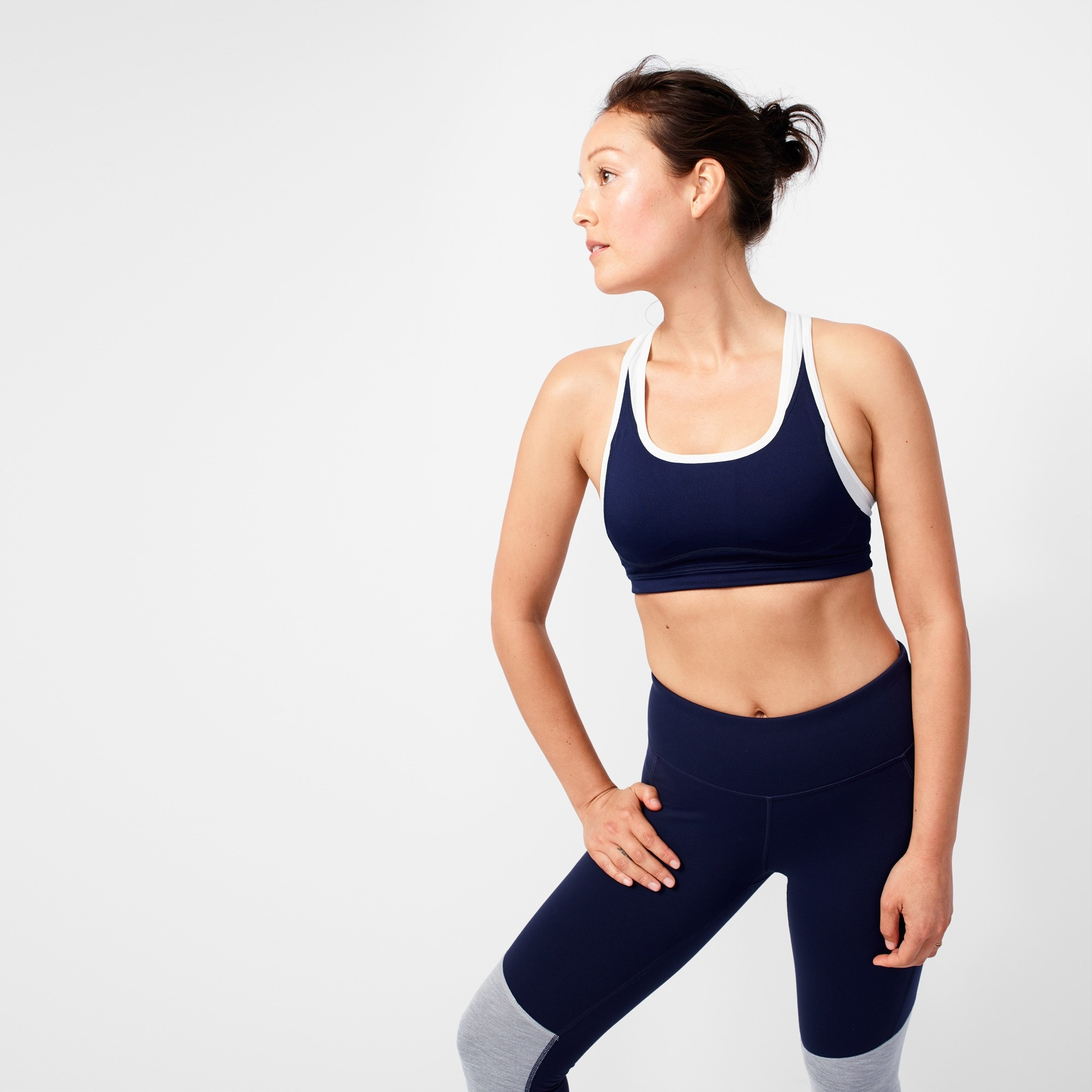 New Balance® for J.Crew colorblock sports bra