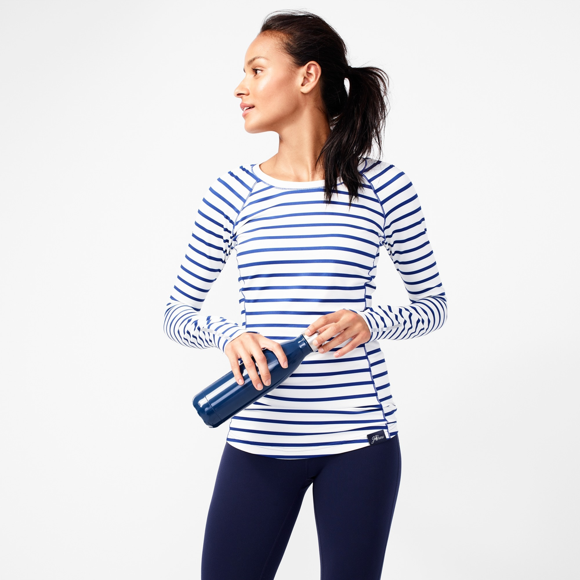 New Balance® for J.Crew in-transit long-sleeve T-shirt in stripe