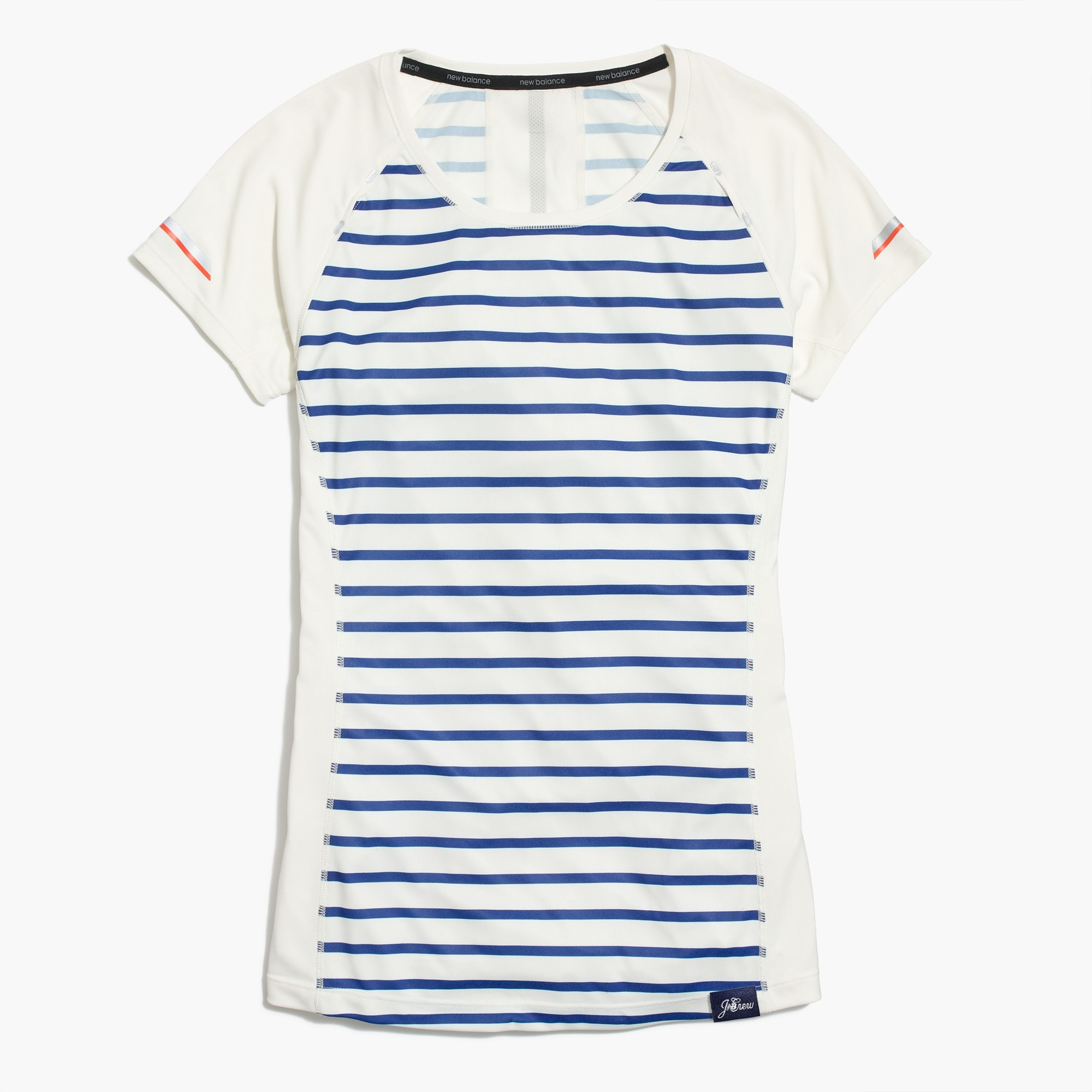 New Balance® for J.Crew striped cooling T-shirt