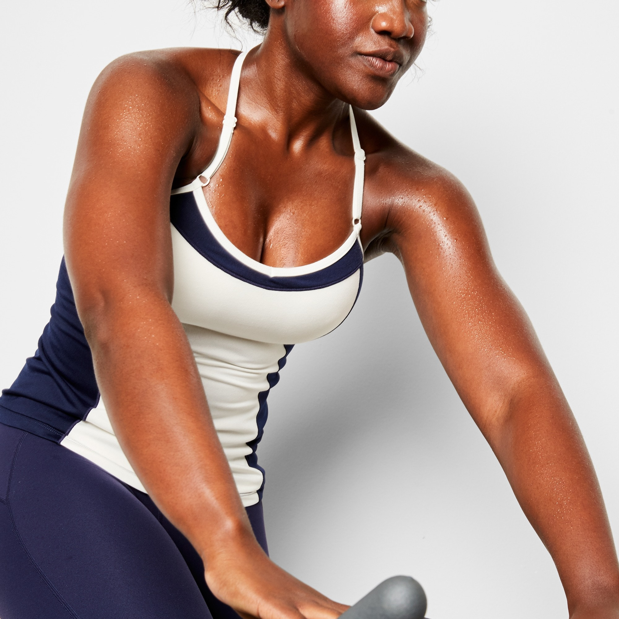 New Balance® for J.Crew colorblock tank top with built-in bra