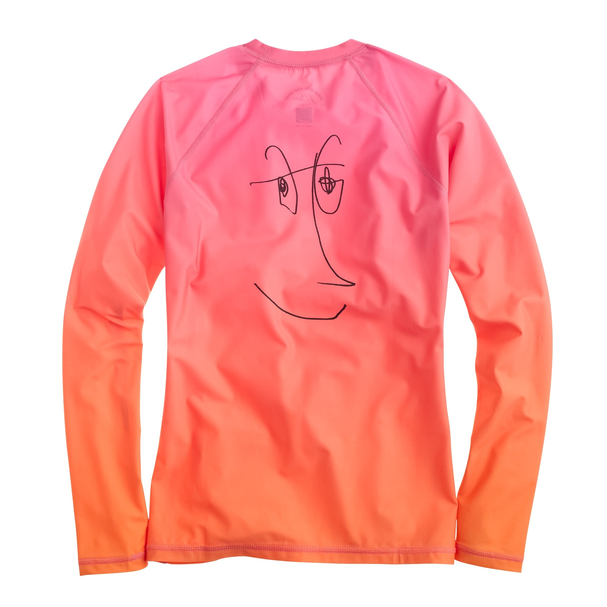 Rob Pruitt™ for J.Crew rash guard in pink orange multi
