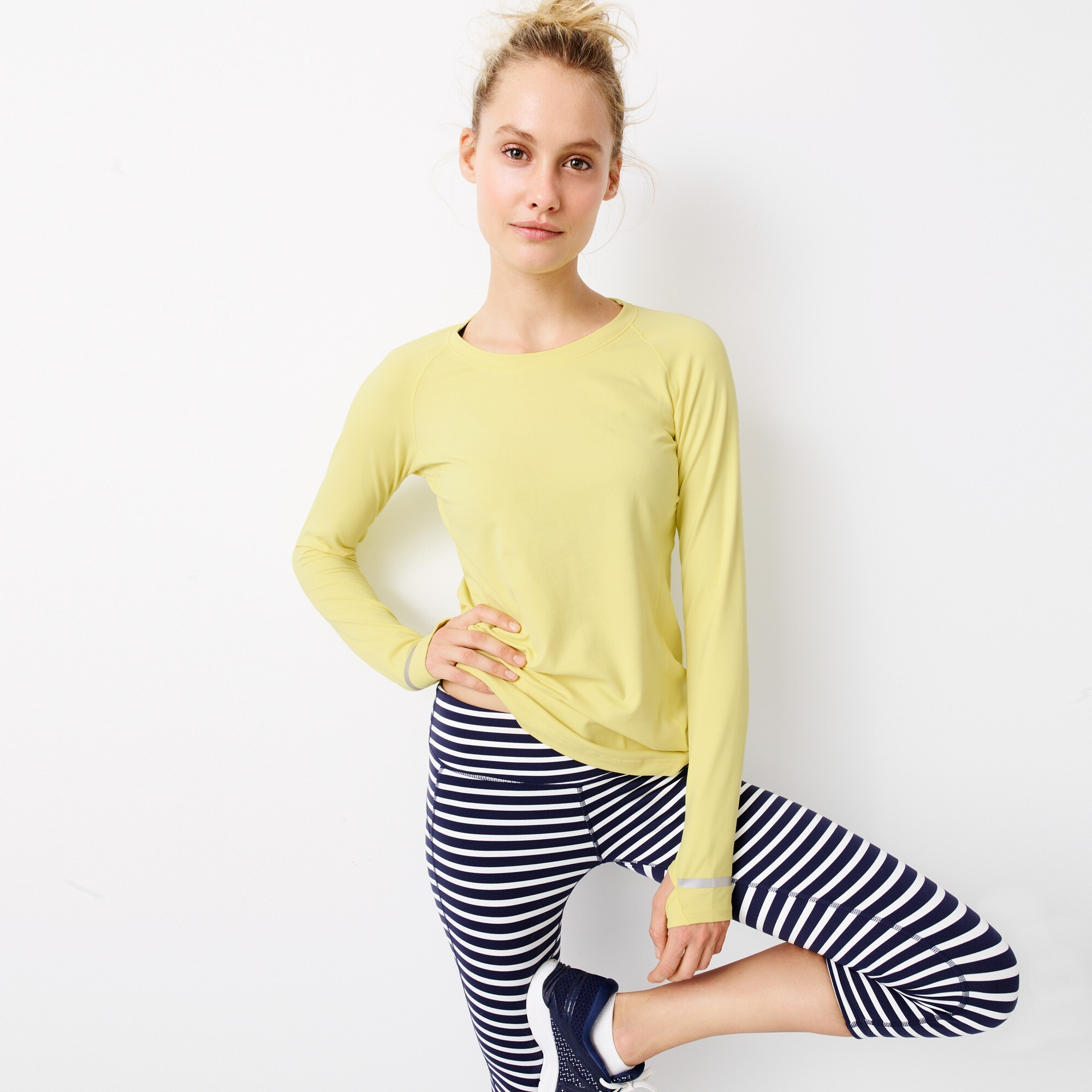 women's new balance® for j.crew in-transit long-sleeve t-shirt - women's active knits
