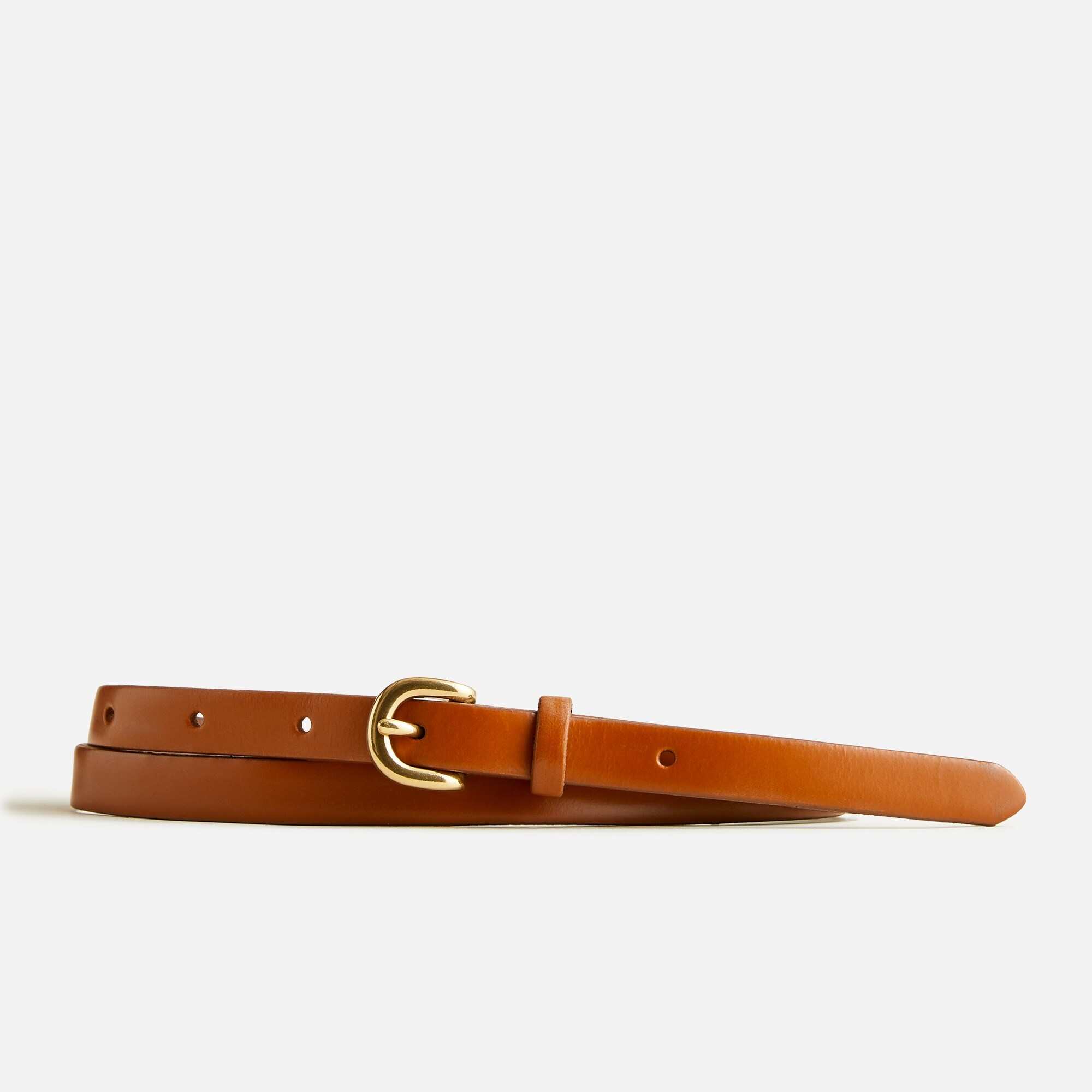 womens Skinny Italian leather belt