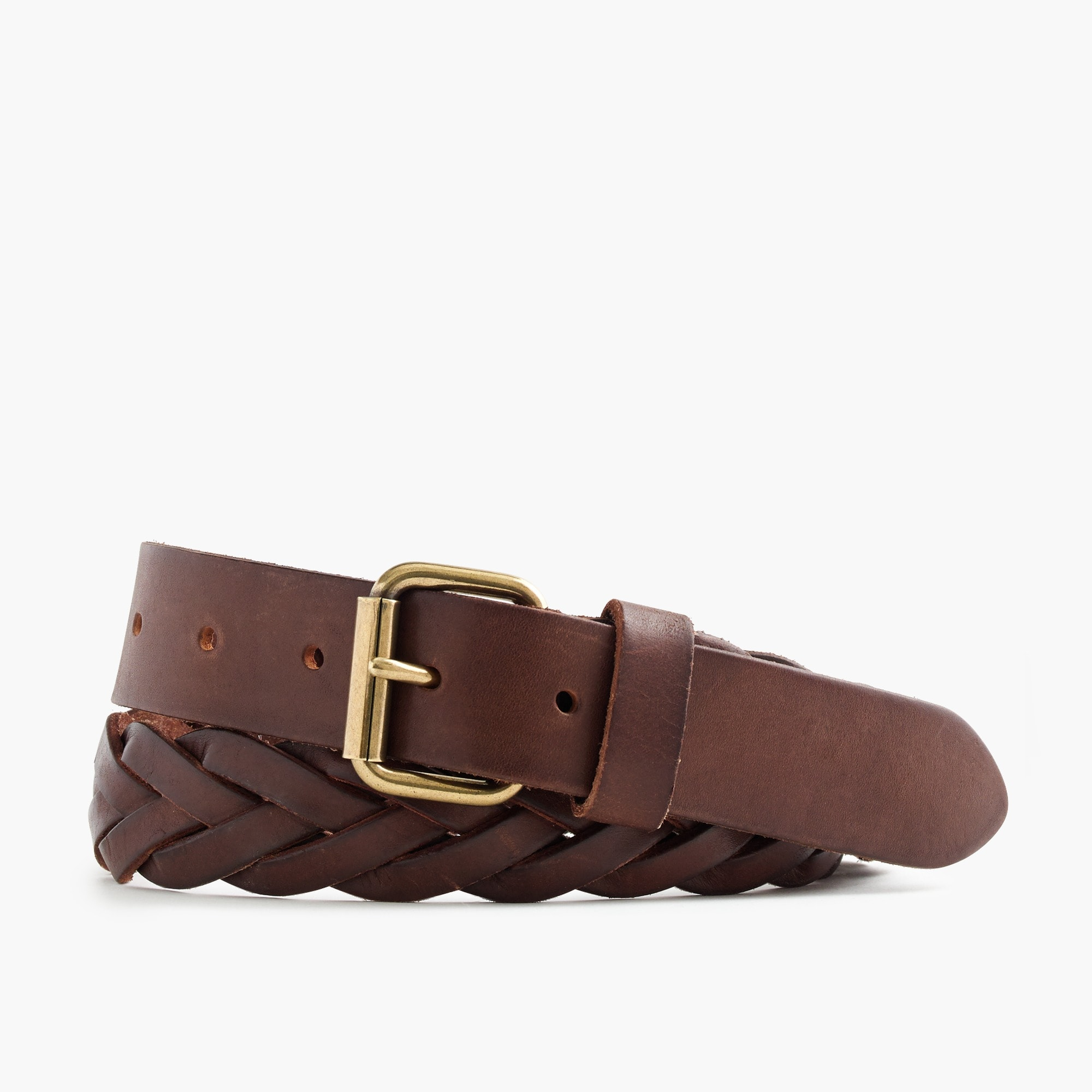 Braided leather belt men accessories c
