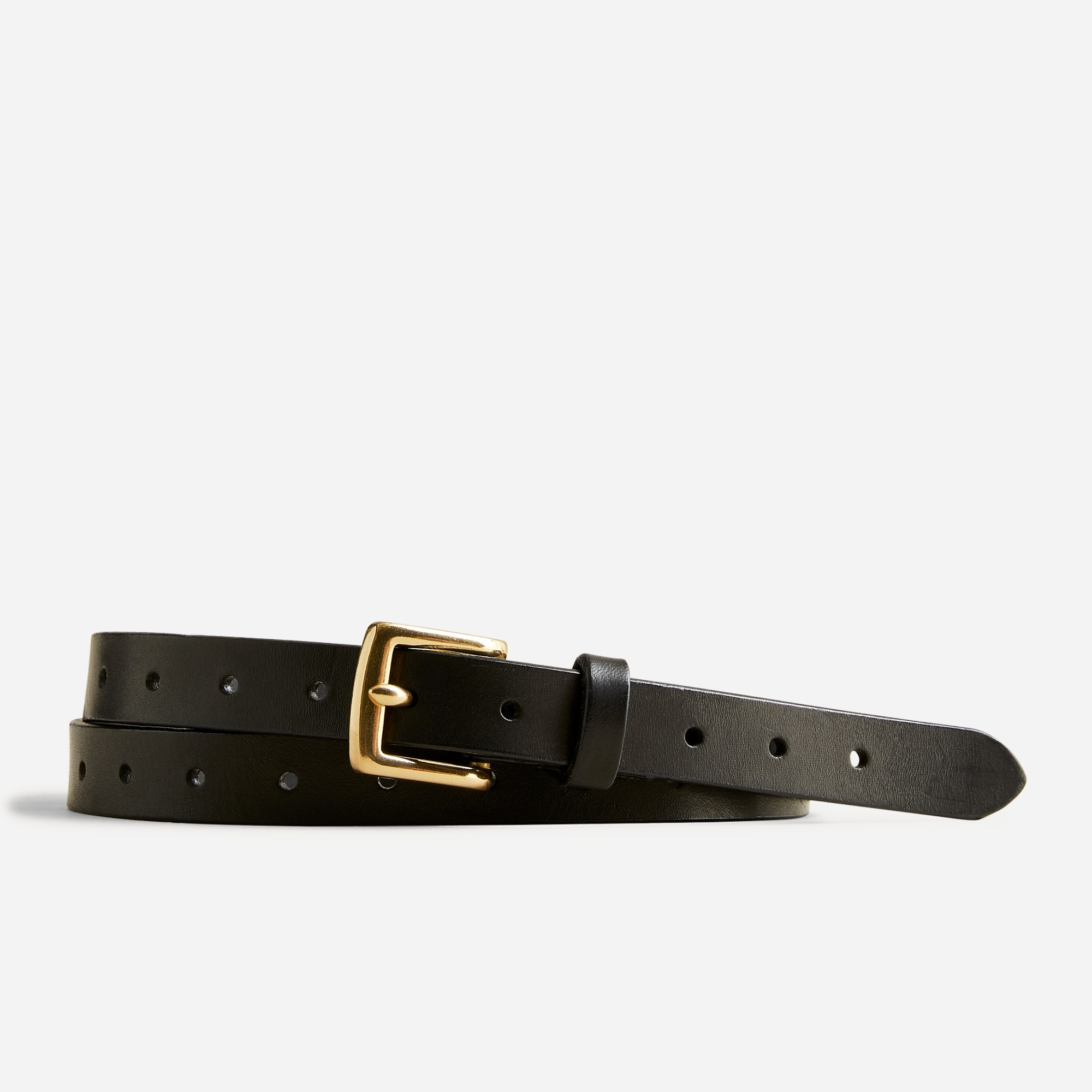 womens Perforated Italian leather belt
