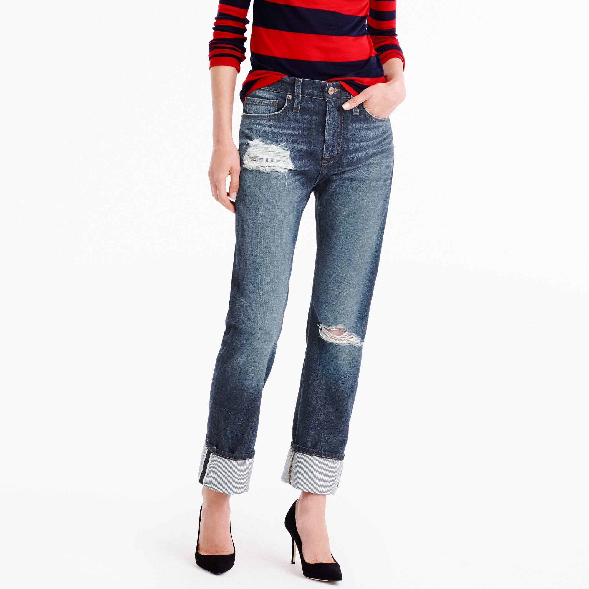 J.Crew for NET-A-PORTER® Point Sur boyfriend jean