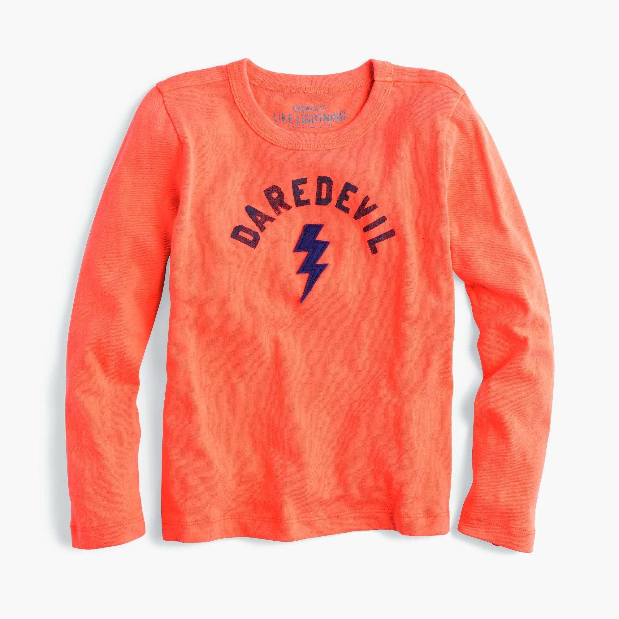 "boys' long-sleeve ""daredevil"" t-shirt : boys' novelty tees"