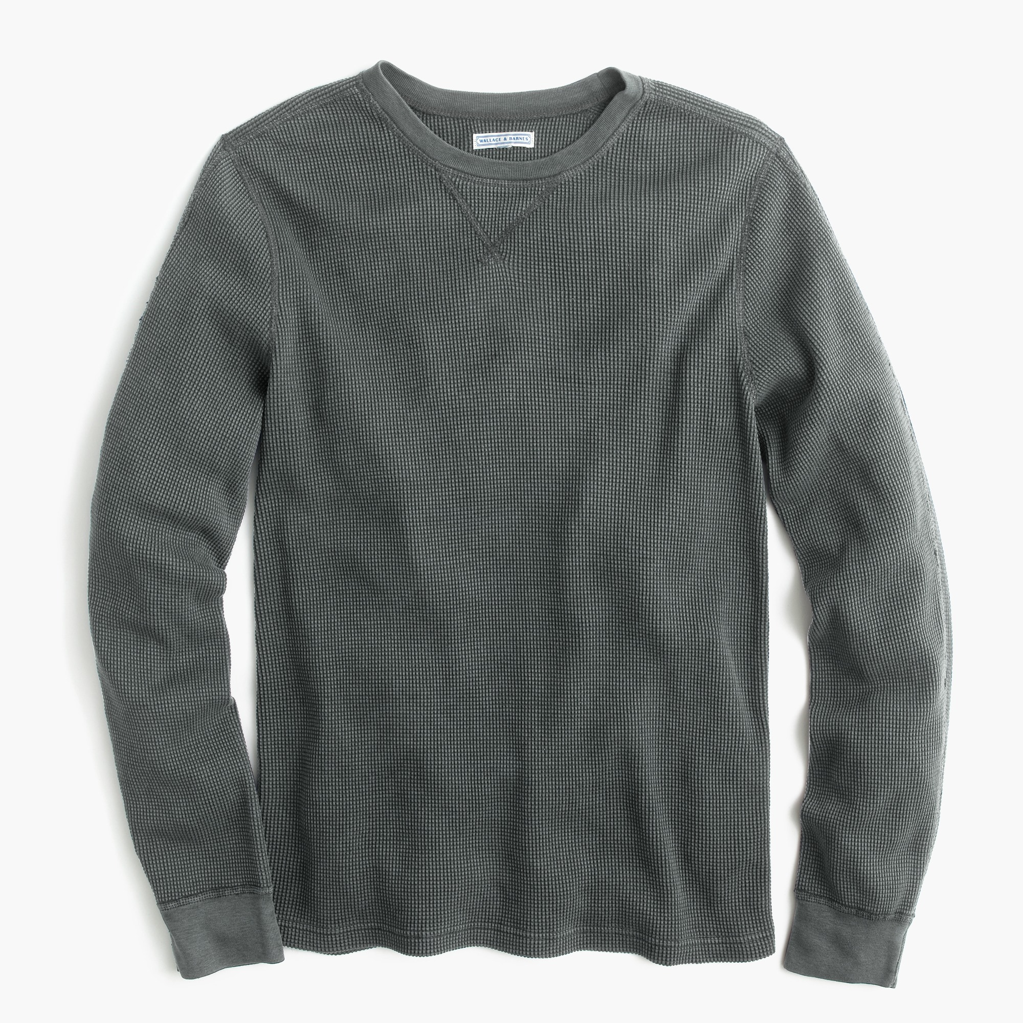 men's wallace & barnes thermal crewneck t-shirt