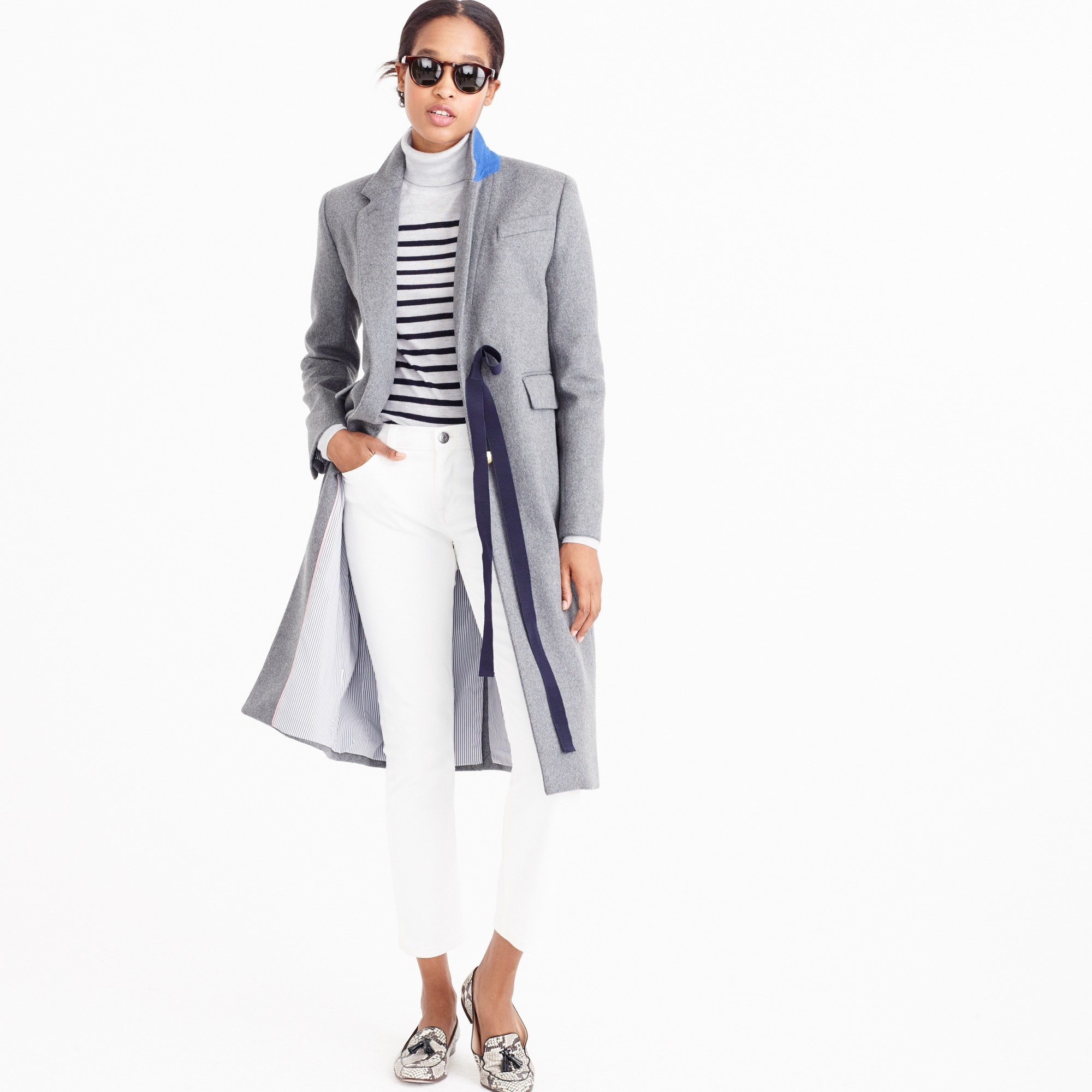 collection olivia topcoat with grosgrain ribbon : women's coats & jackets