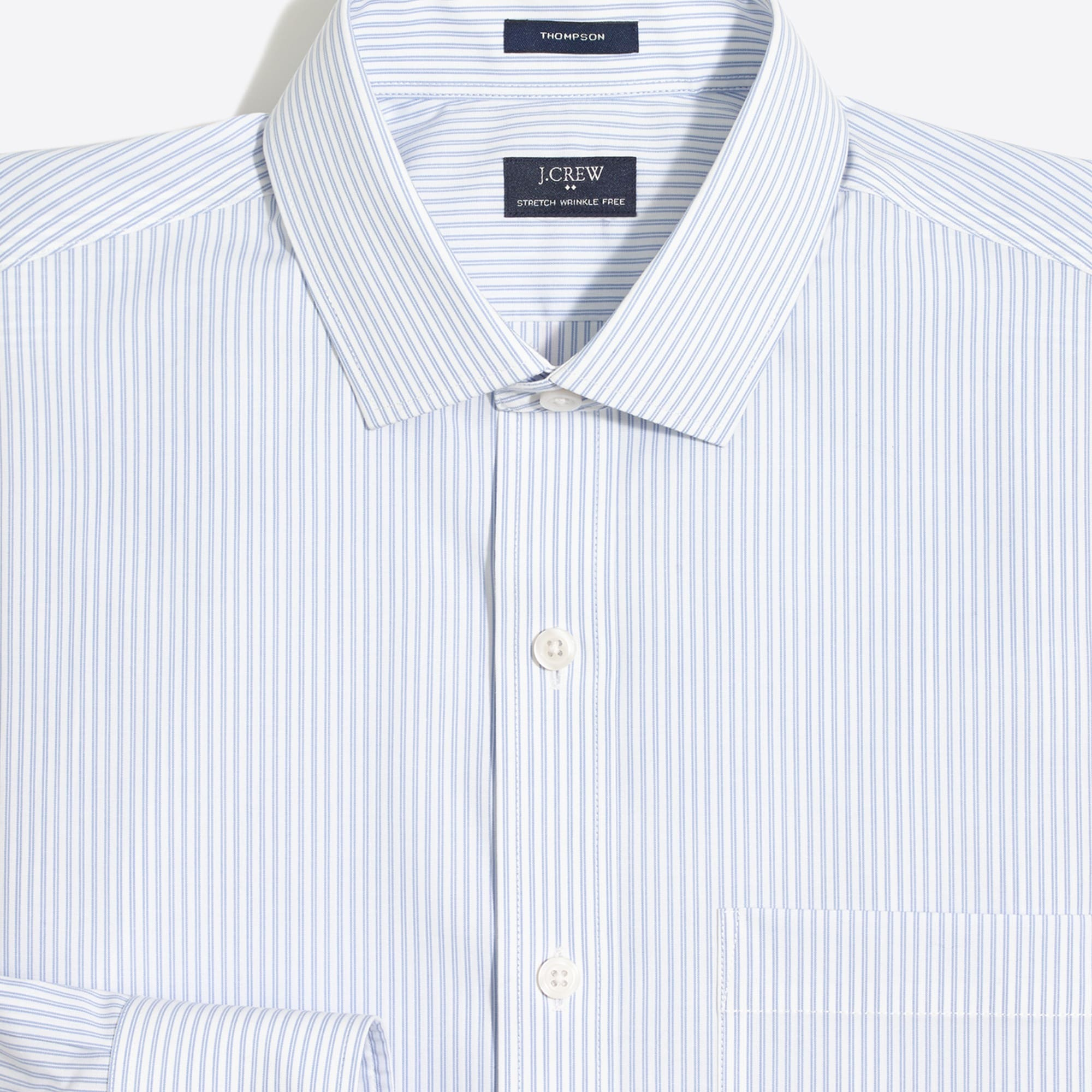 striped flex wrinkle-free voyager dress shirt : men ludlow