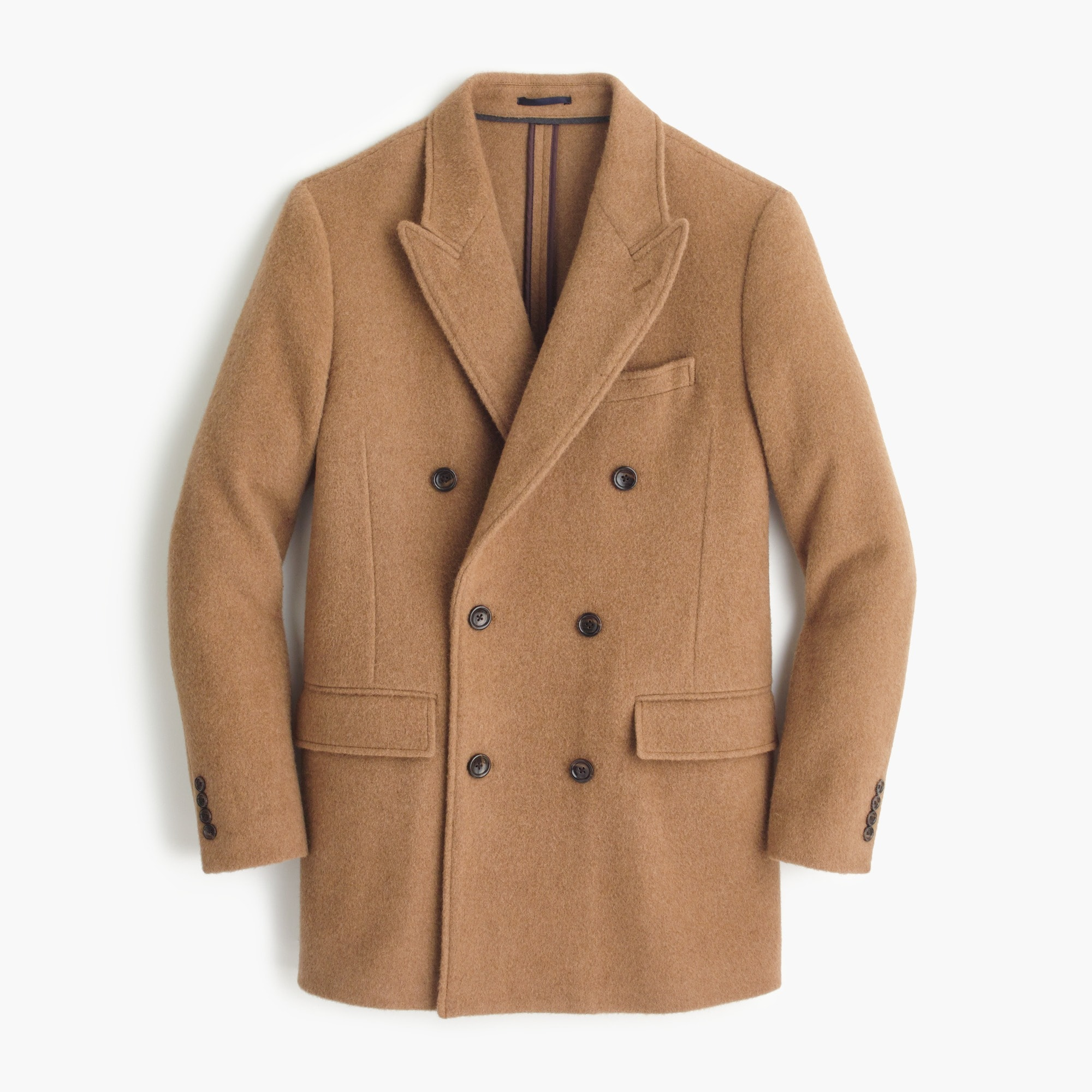 English camel-hair peacoat